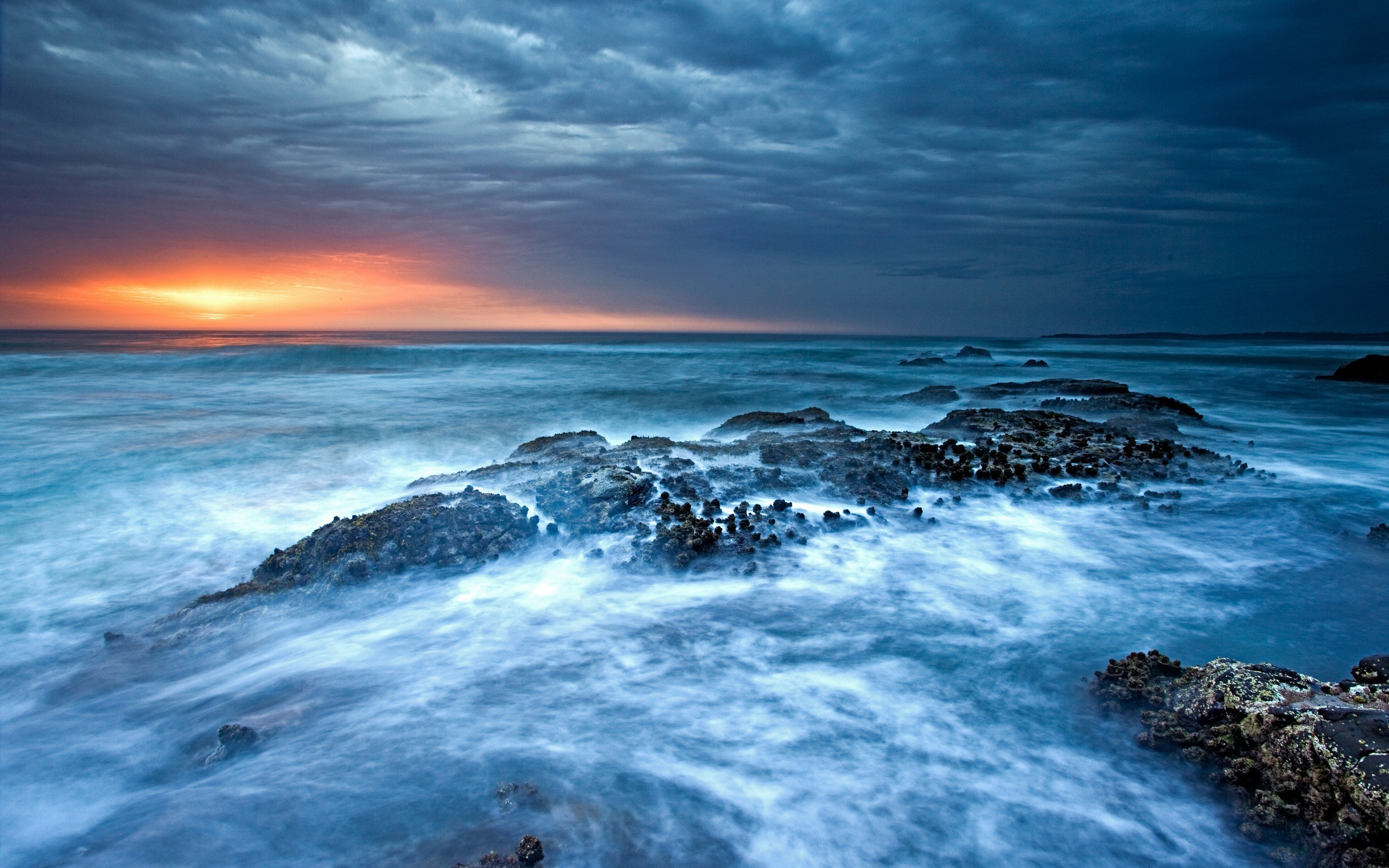 Ocean Waves Sunset Pictures