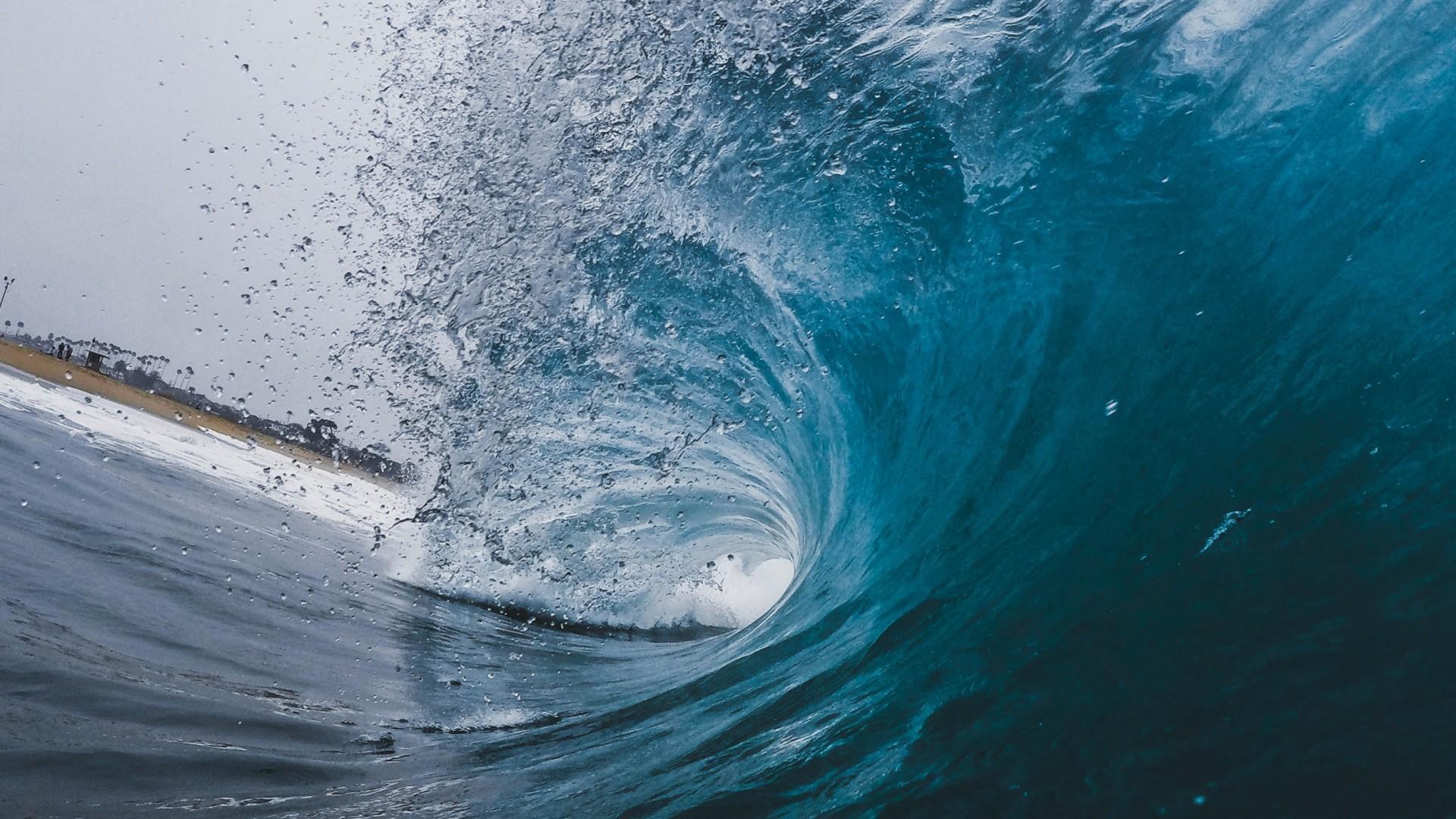 Preview wallpaper wave, ocean, spray 1920×1080