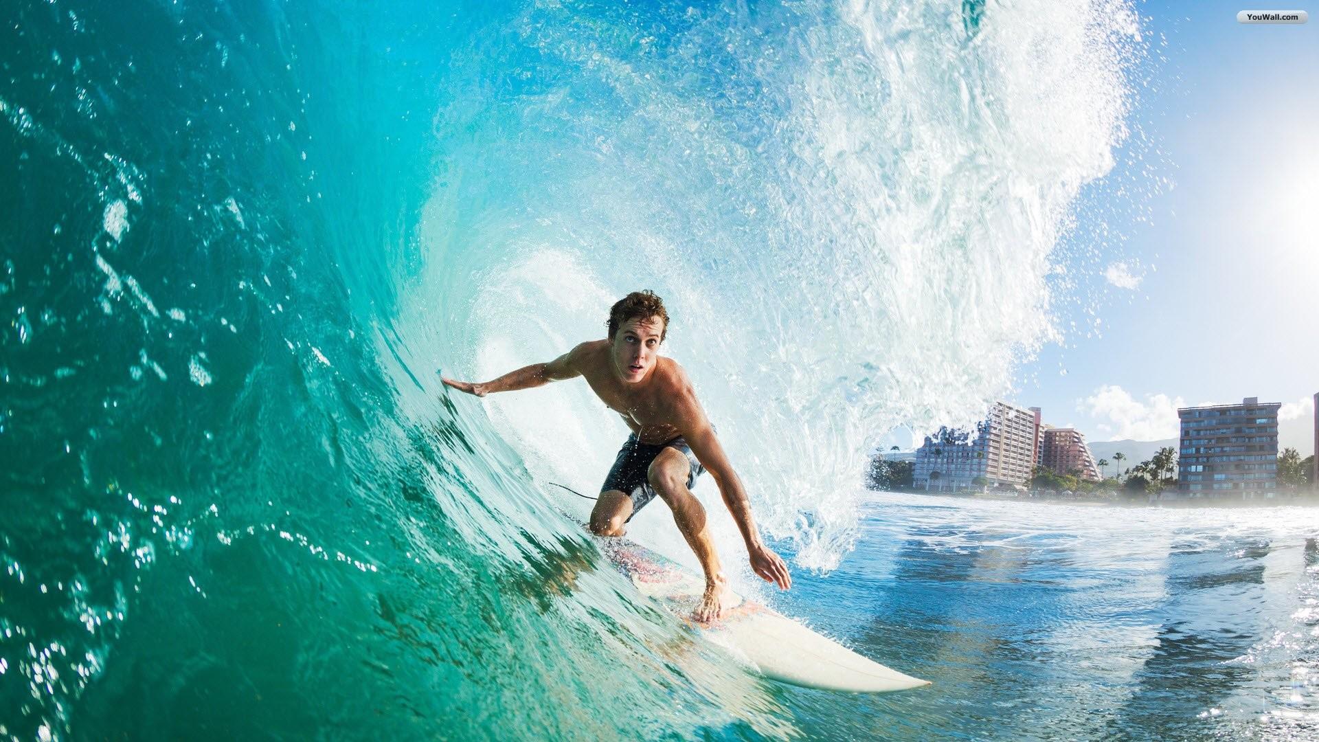 HD Surfing Surf Wave Wallpaper 1080p – HiReWallpapers 7595