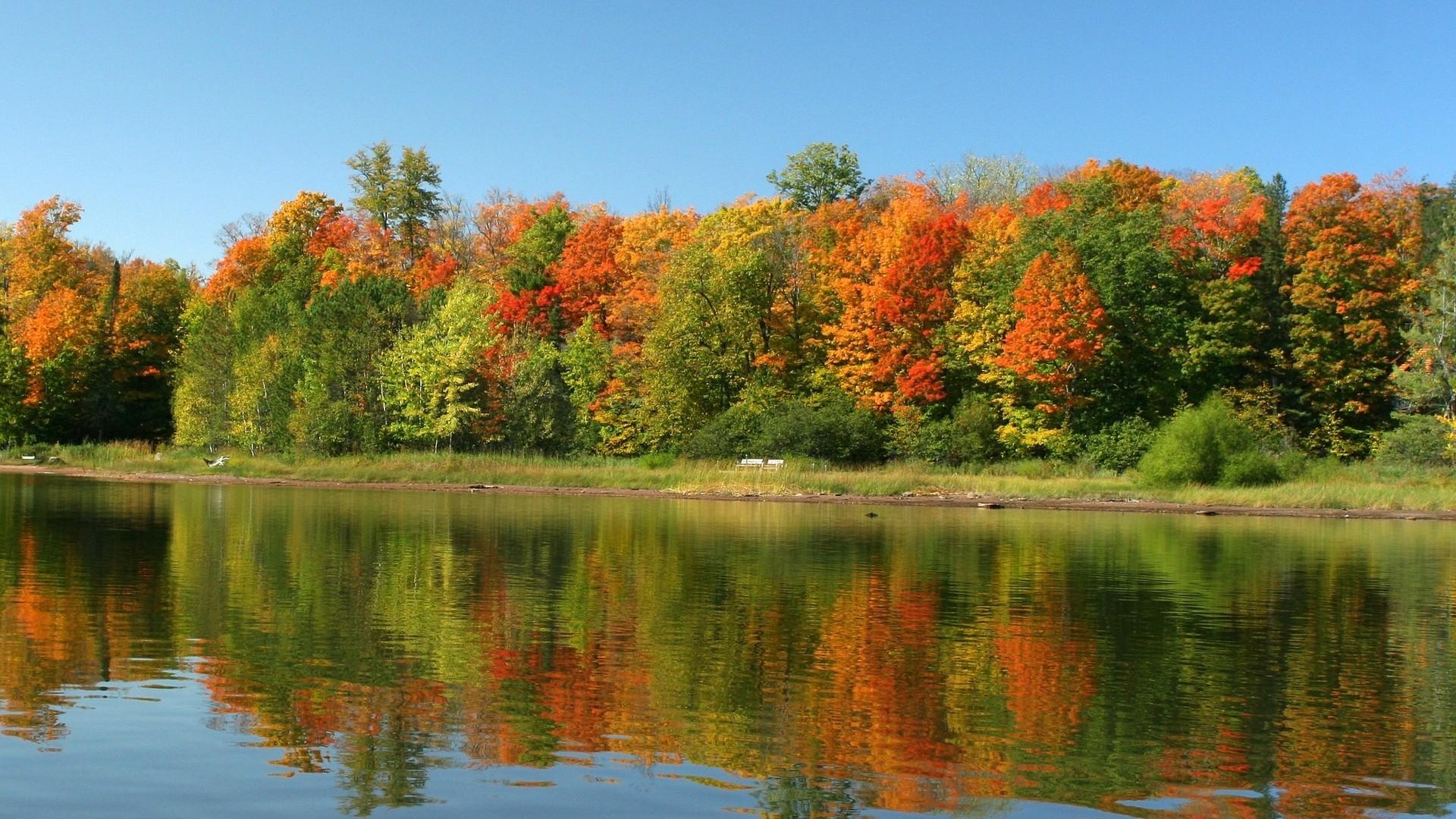 autumn wallpaper scenes water photo 1920×1080