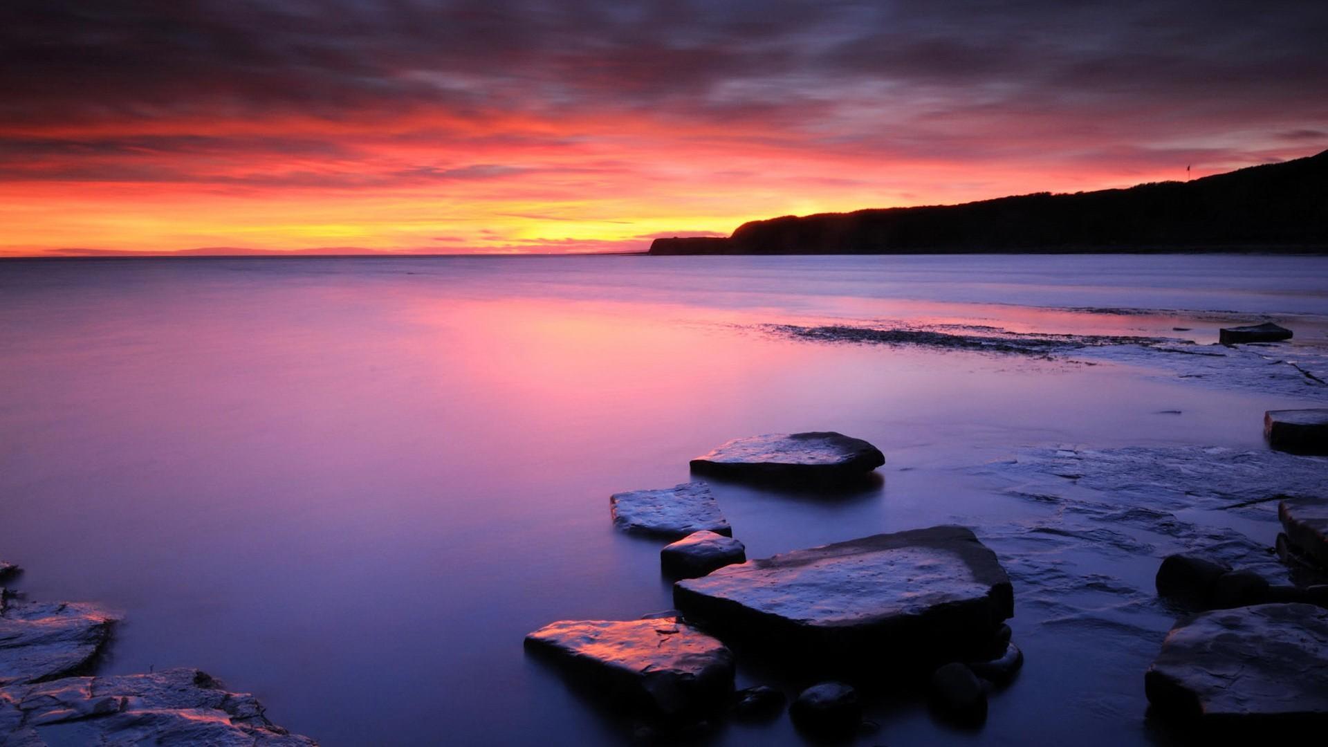 Sunset on Ice Beach Wallpapers