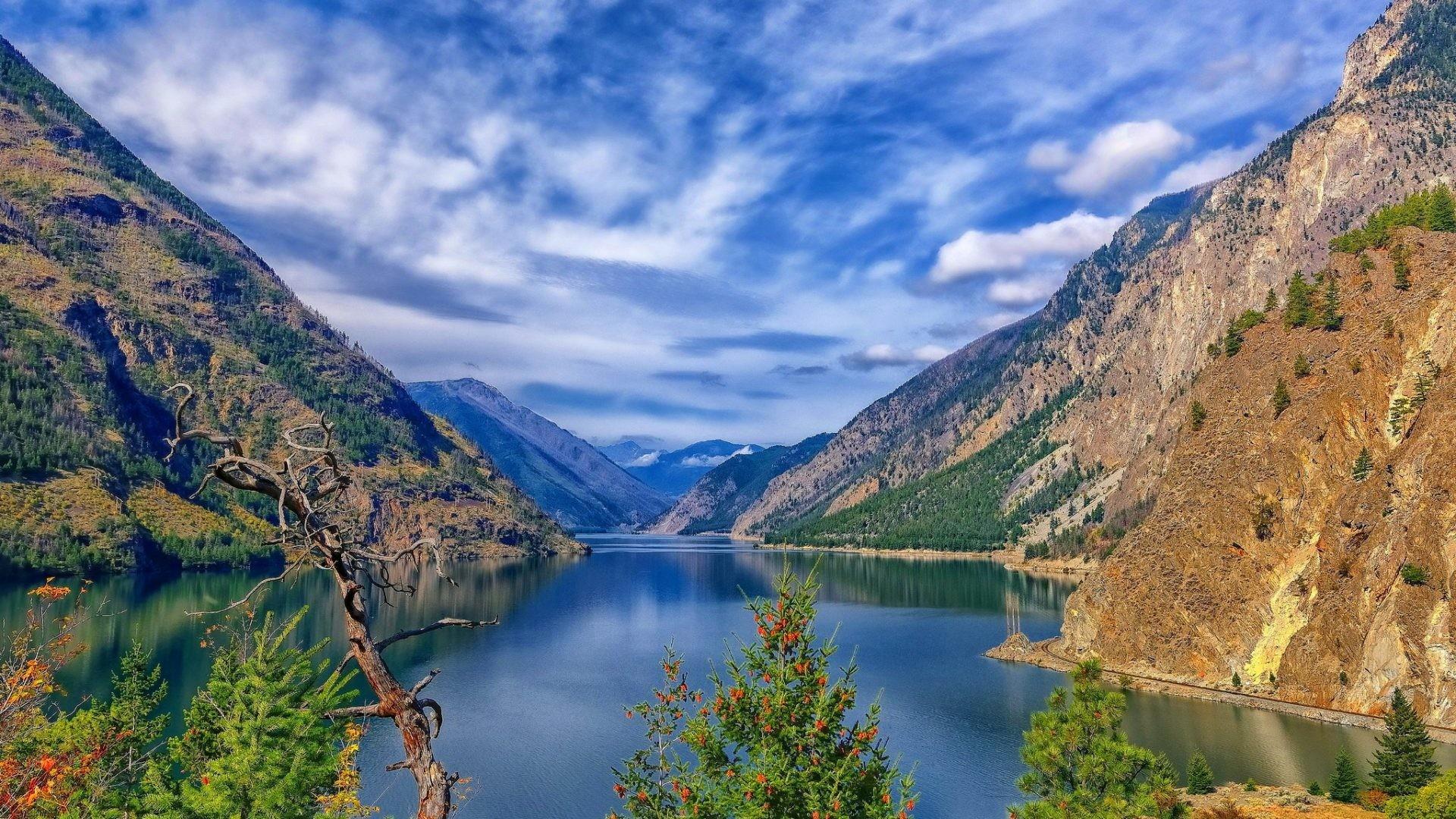 December 12, 2016 – Seton Lake British Columbia Flowers Sky Water Scene  Beautiful Reflection Lovely
