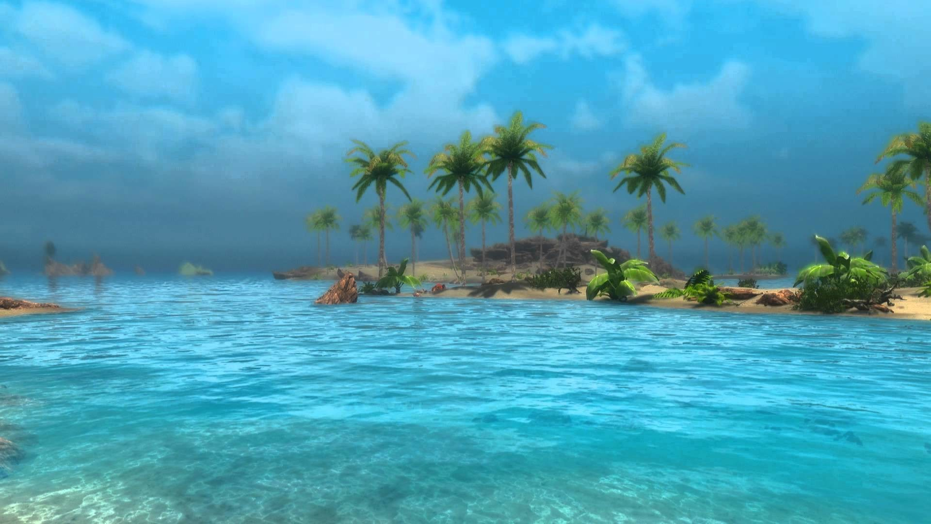 Animated Desktop Wallpaper – Tropical Skyrim 2 – Sunny Beach – YouTube
