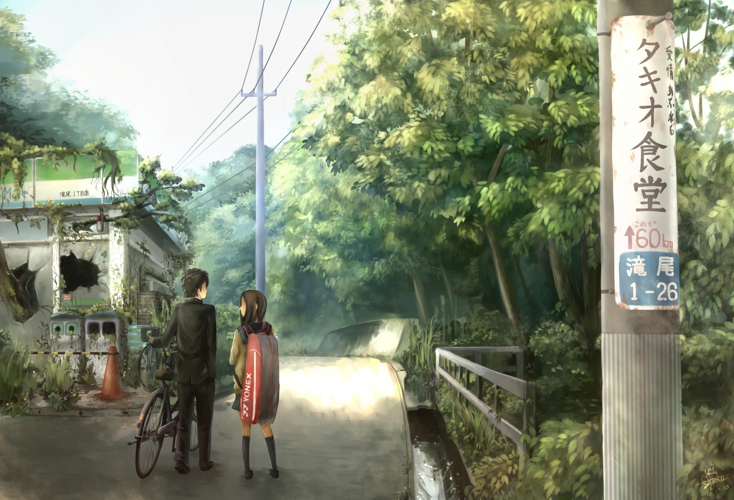 Nature bicycles anime girls wallpaper | | 12931 | WallpaperUP