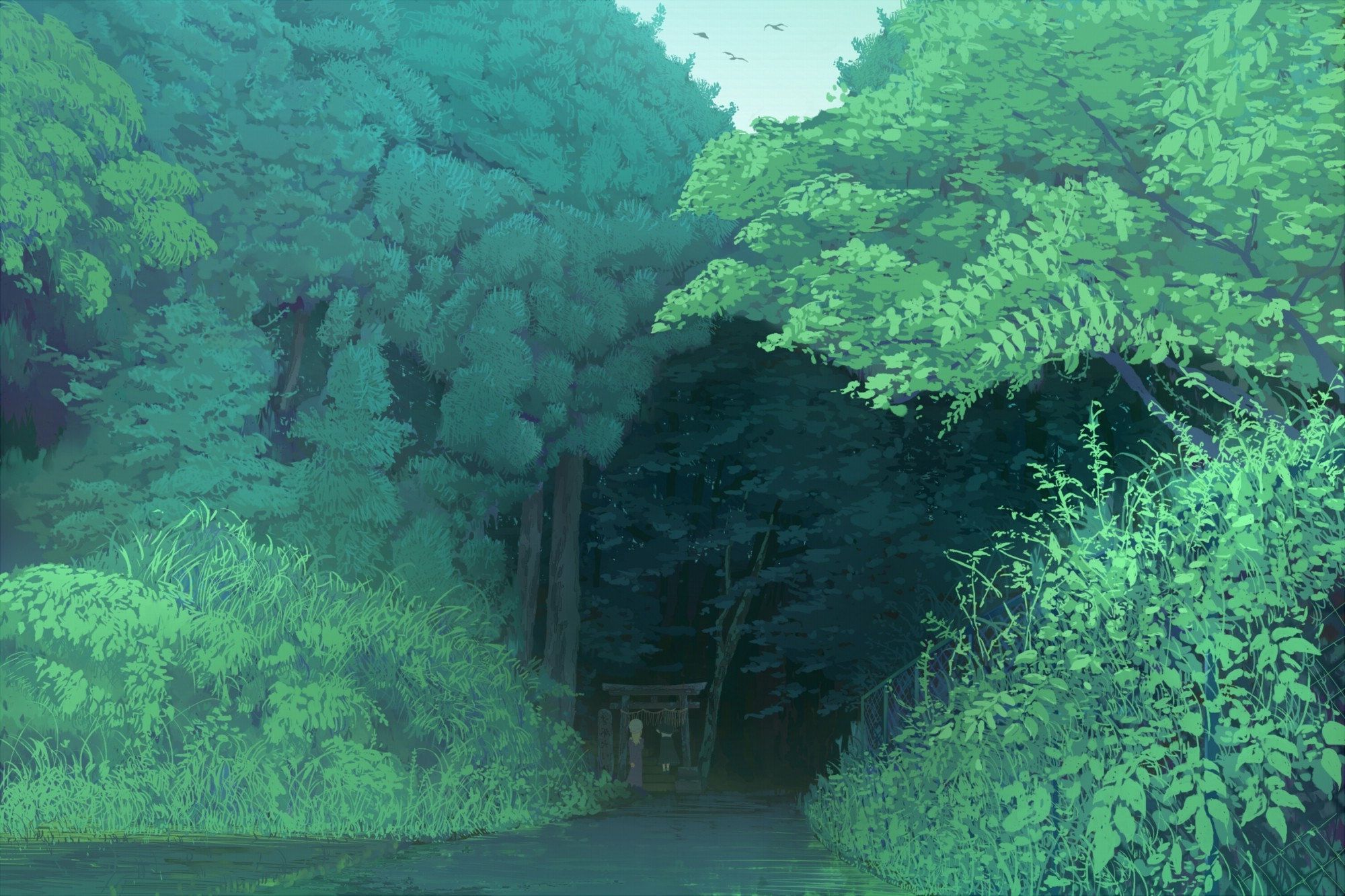 nature, Landscape, Forest, Trees, Anime Wallpapers HD / Desktop and Mobile  Backgrounds