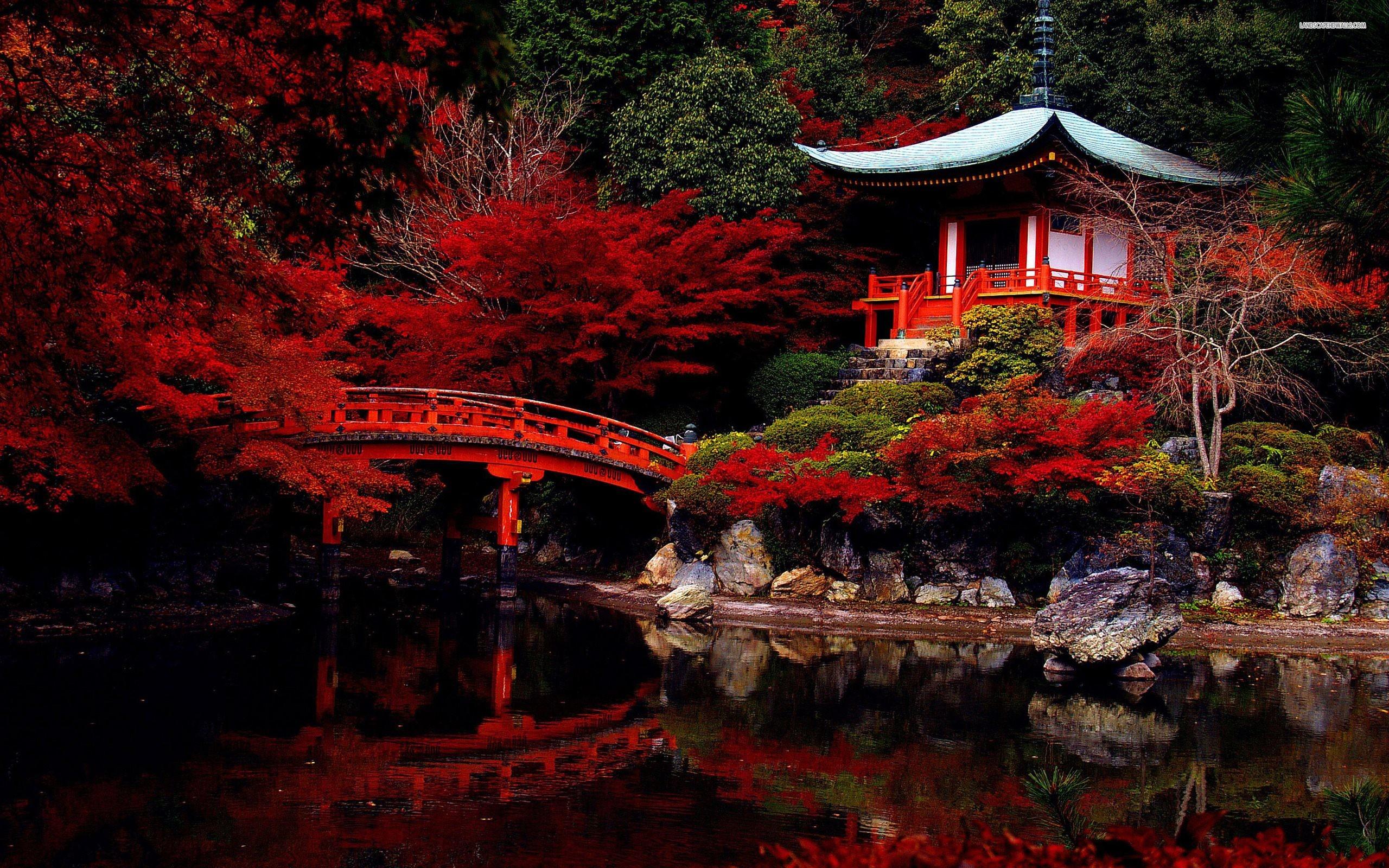 Japanese Garden Autumn Wallpaper