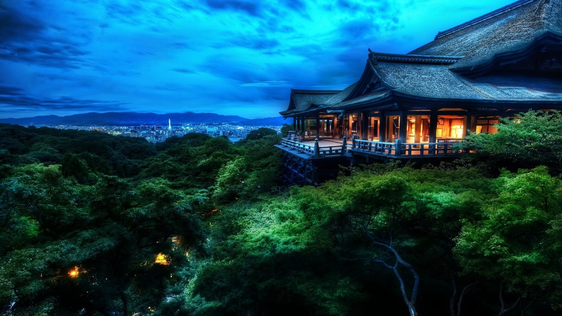 Japan Night Landscape Wallpaper HD #10770 Wallpaper   WallpaperLepi