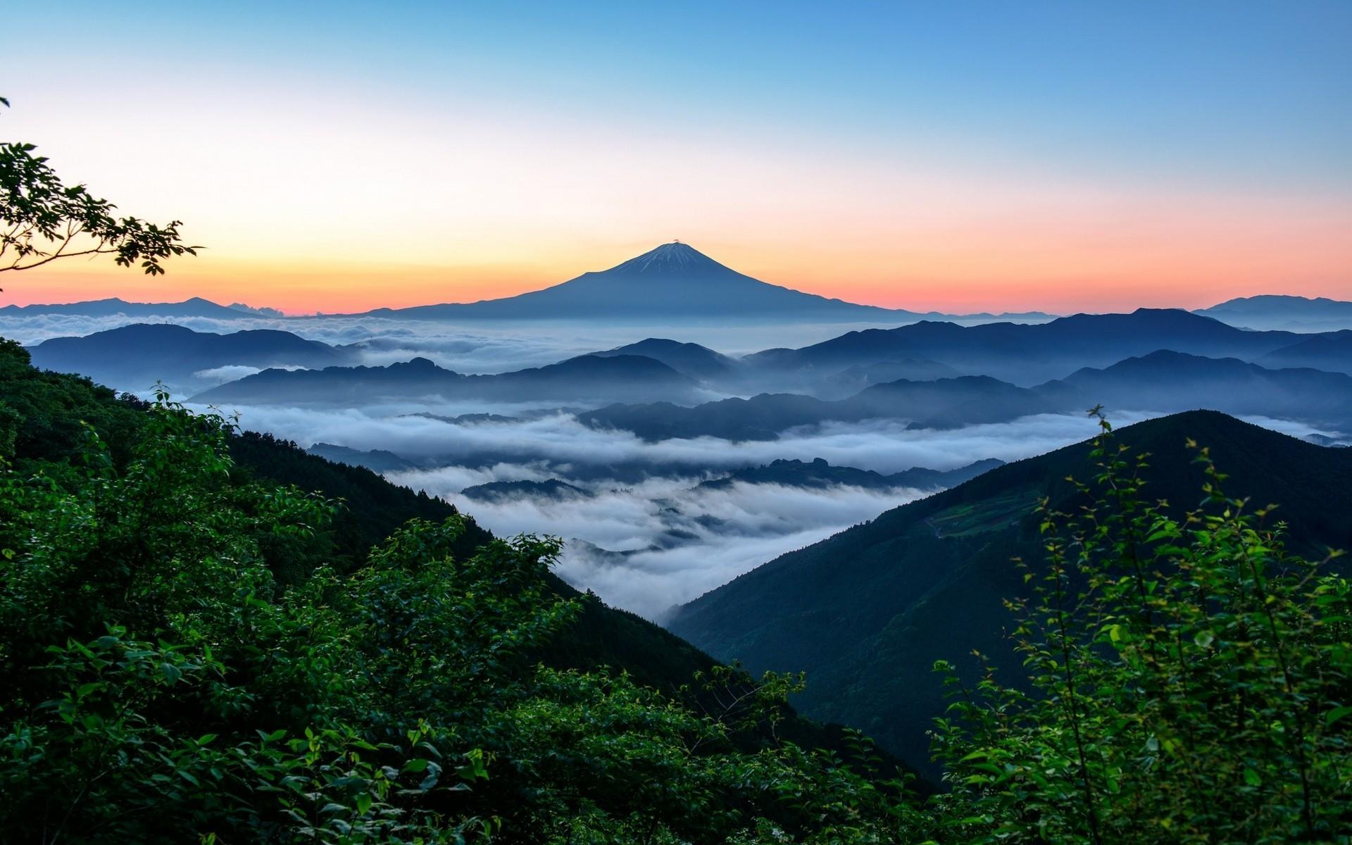 nature, Landscape, Mount Fuji, Japan, Sunrise, Forest, Mountain, Mist  Wallpapers HD / Desktop and Mobile Backgrounds