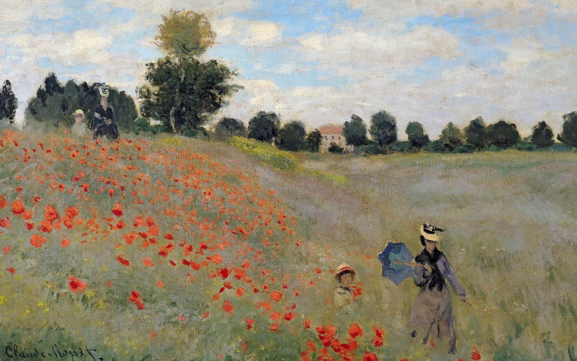 Wallpaper Wild Poppies By Claude Monet Desktop | High Quality .