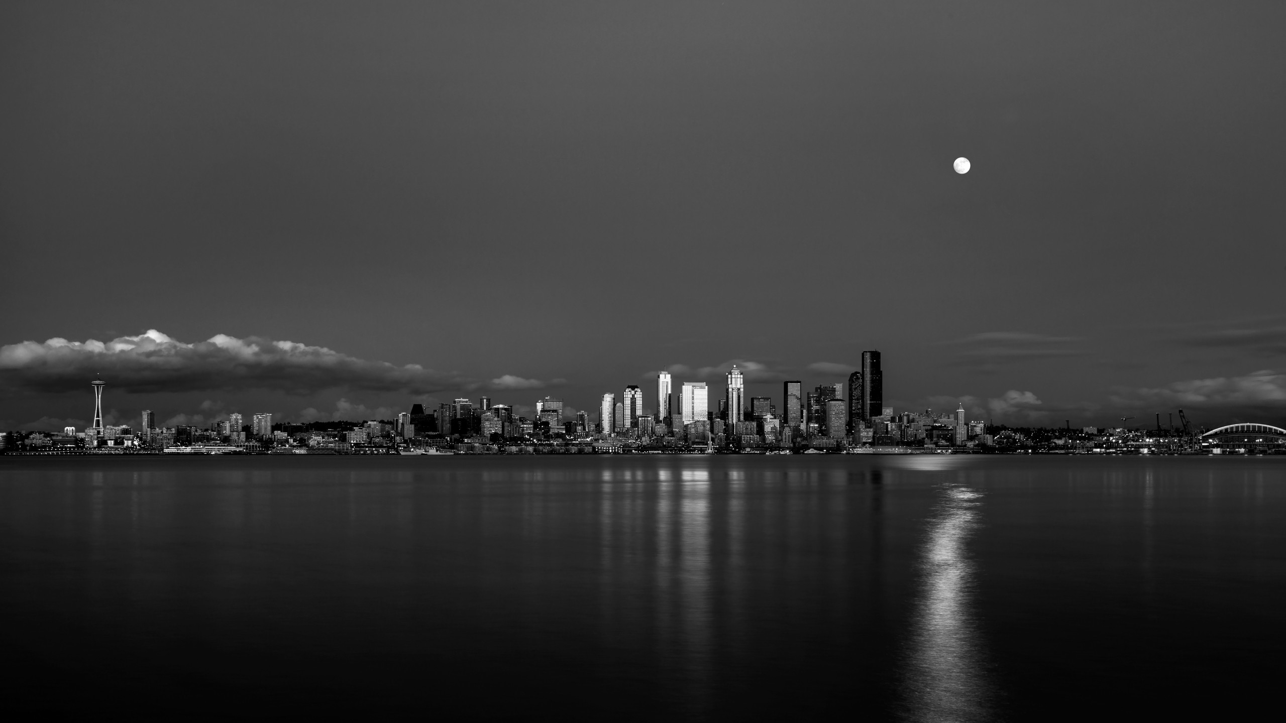 HD Clear. 2560 x 1440. Seattle skyline. | Cityscape Wallpaper | Pinterest |  Seattle skyline and Photography