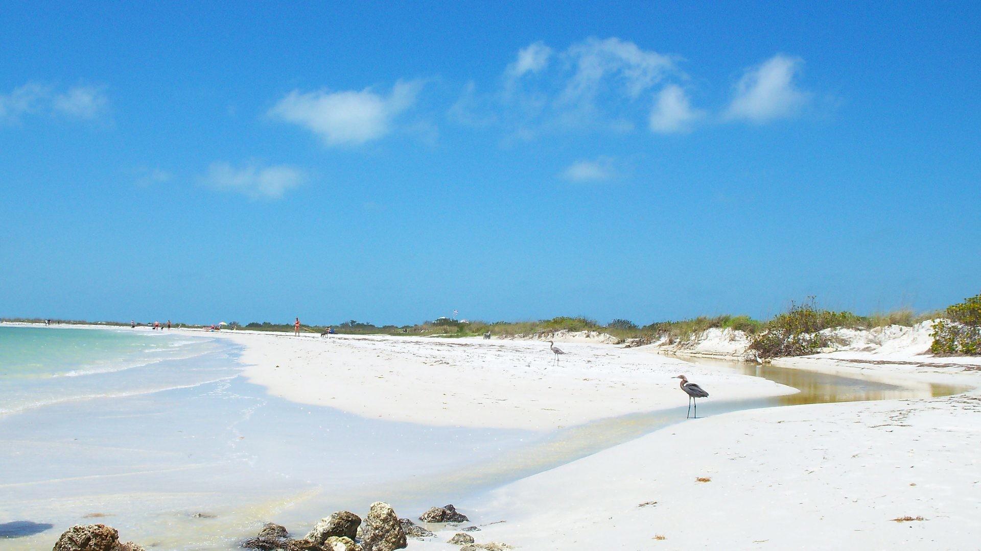 October 5, 2016 – Clouds Dunes Island Nature Honeymoon Sand Sea Foilage  Ocean Florida Birds