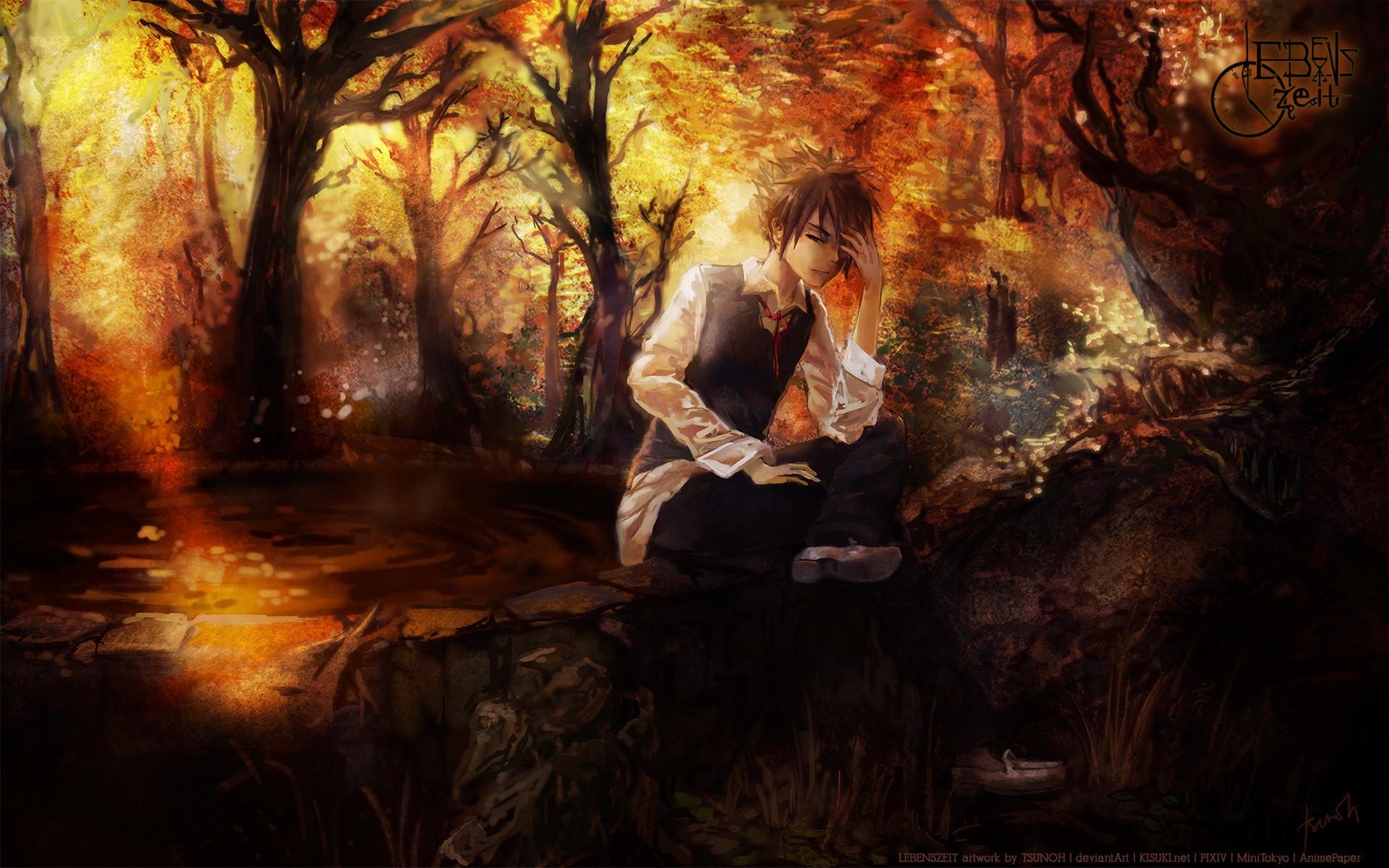 Lebenszeit(artist) original vector art men males mood landscapes trees  forest woods autumn fall wallpaper     35657   WallpaperUP