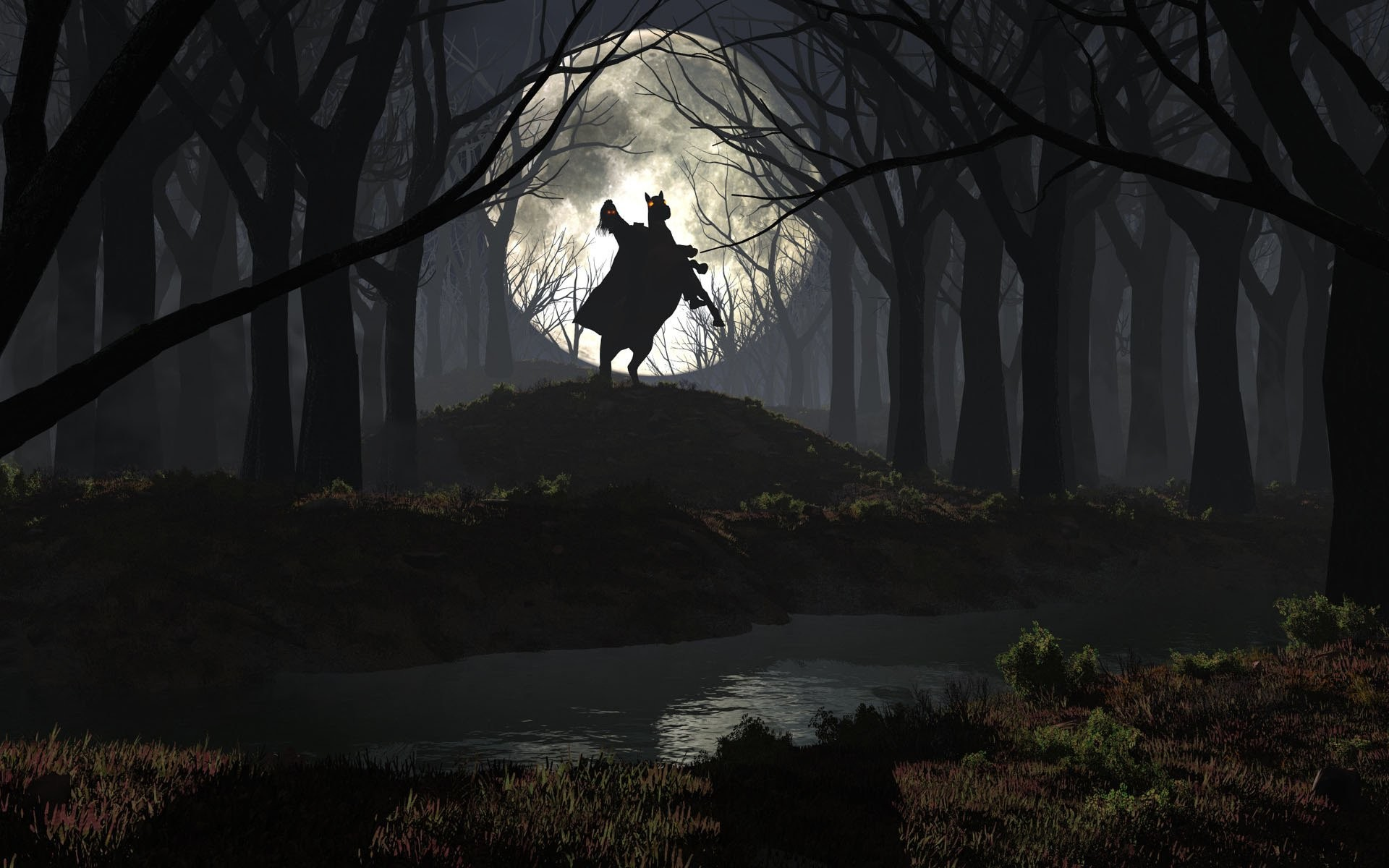 Rider In The Spooky Forest