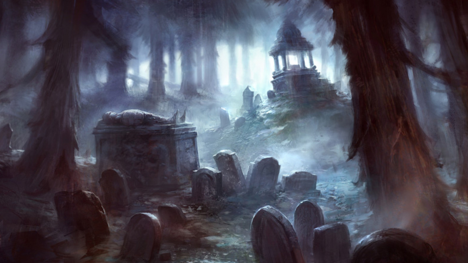 Explore and share Spooky Graveyard Wallpaper