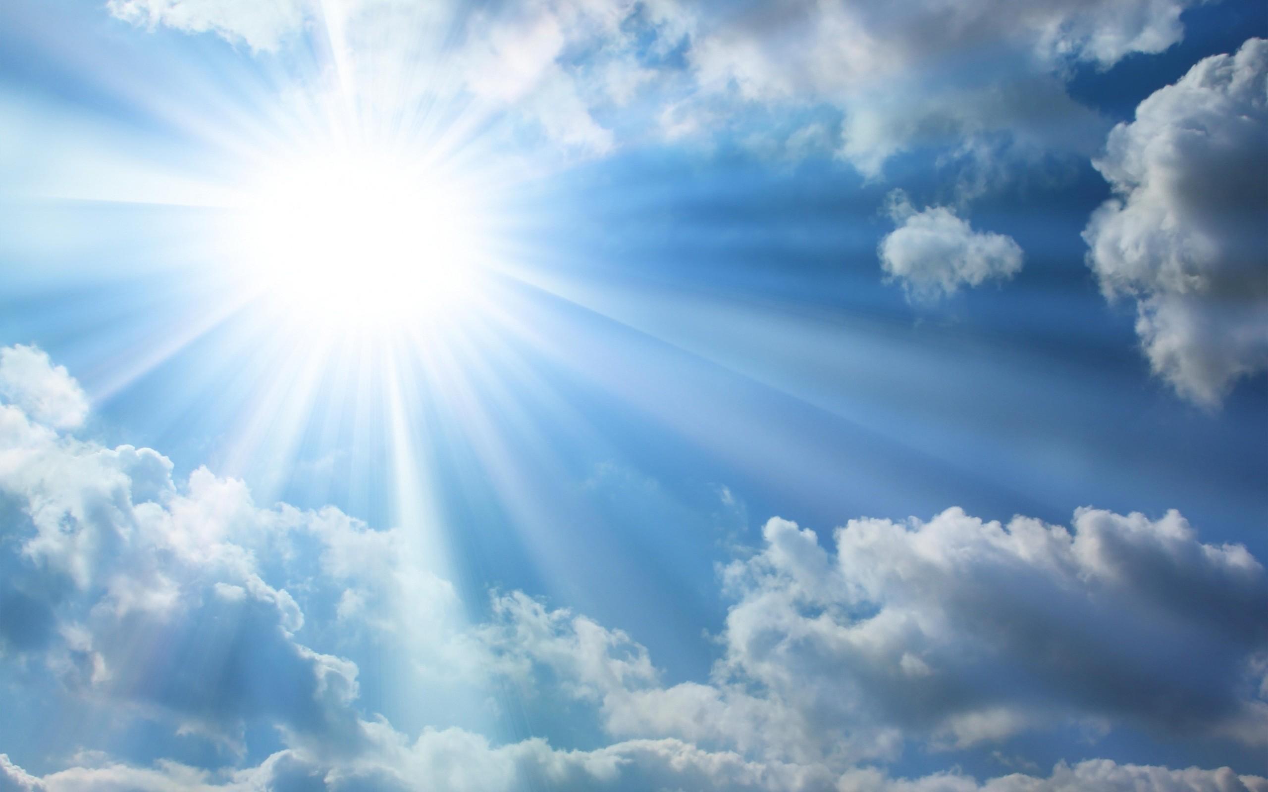 Sun clouds wallpaper HD.