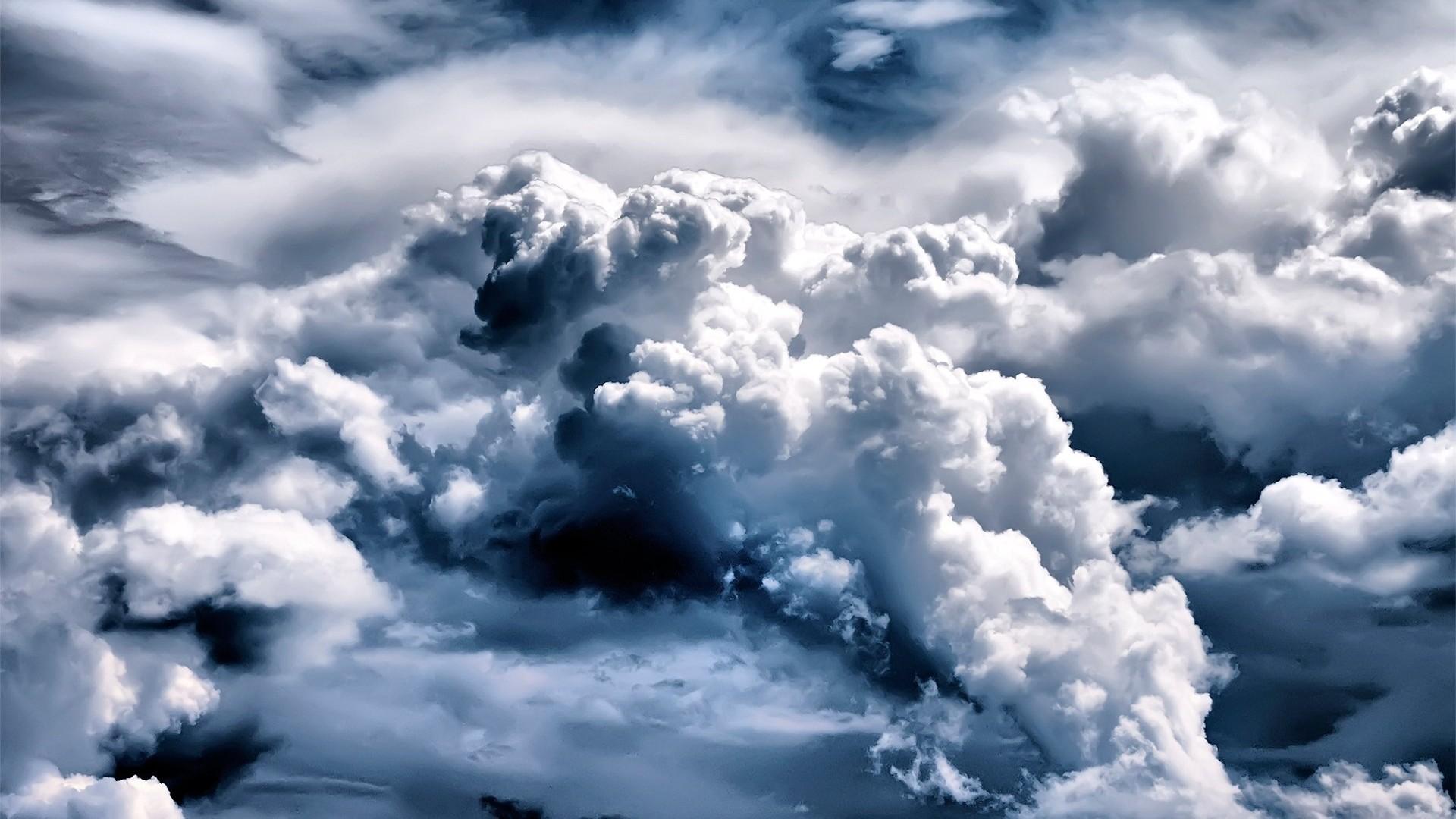 Wallpaper clouds, volume, sky