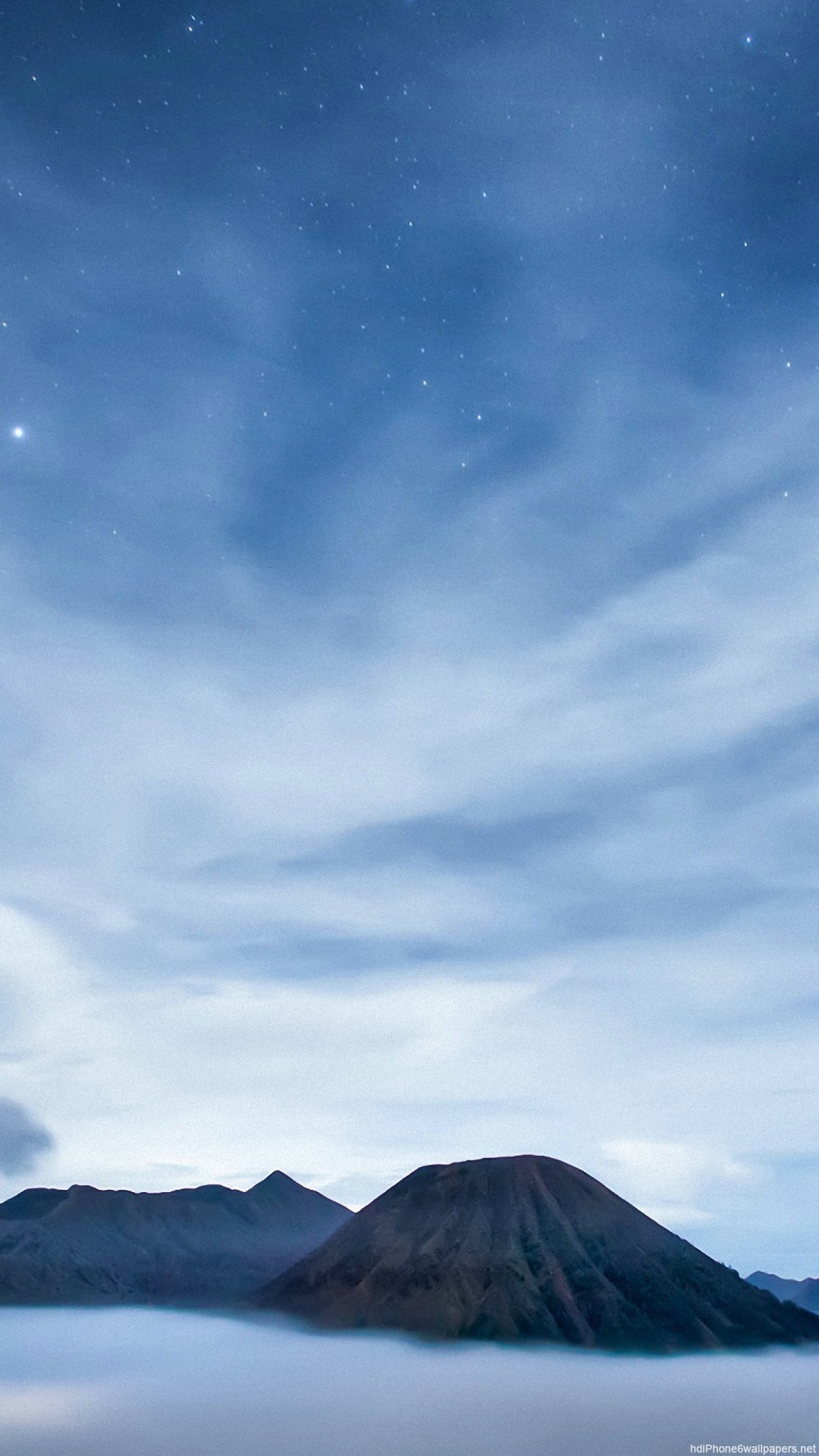 star sea night clouds island sky iPhone 6 wallpapers HD – 6 Plus  backgrounds