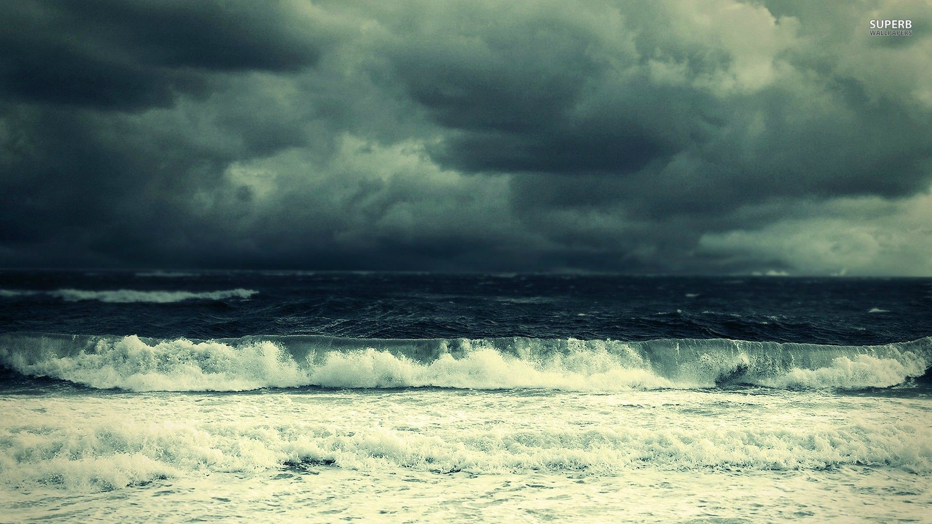Stormy sea wallpaper – Beach wallpapers – #26679