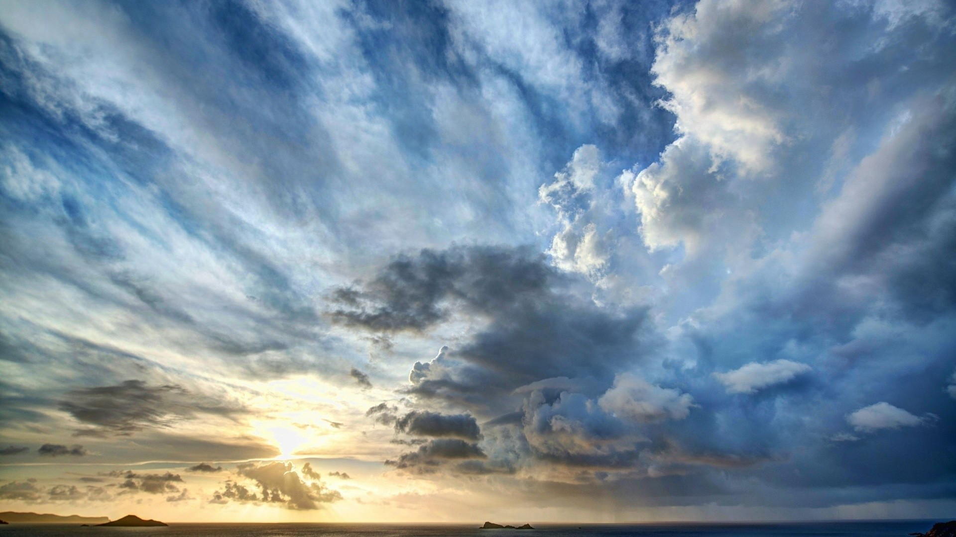 Stormy sky above the sea HD Wallpaper Stormy …