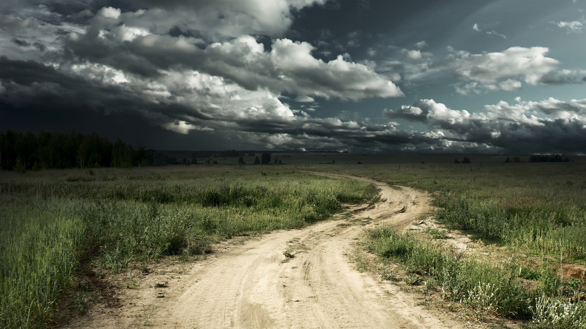 Stormy Tag – Road Stormy Sky Fields Path Farm Dark Country Tempestuous  Rough Tumultuous Rabid Storm