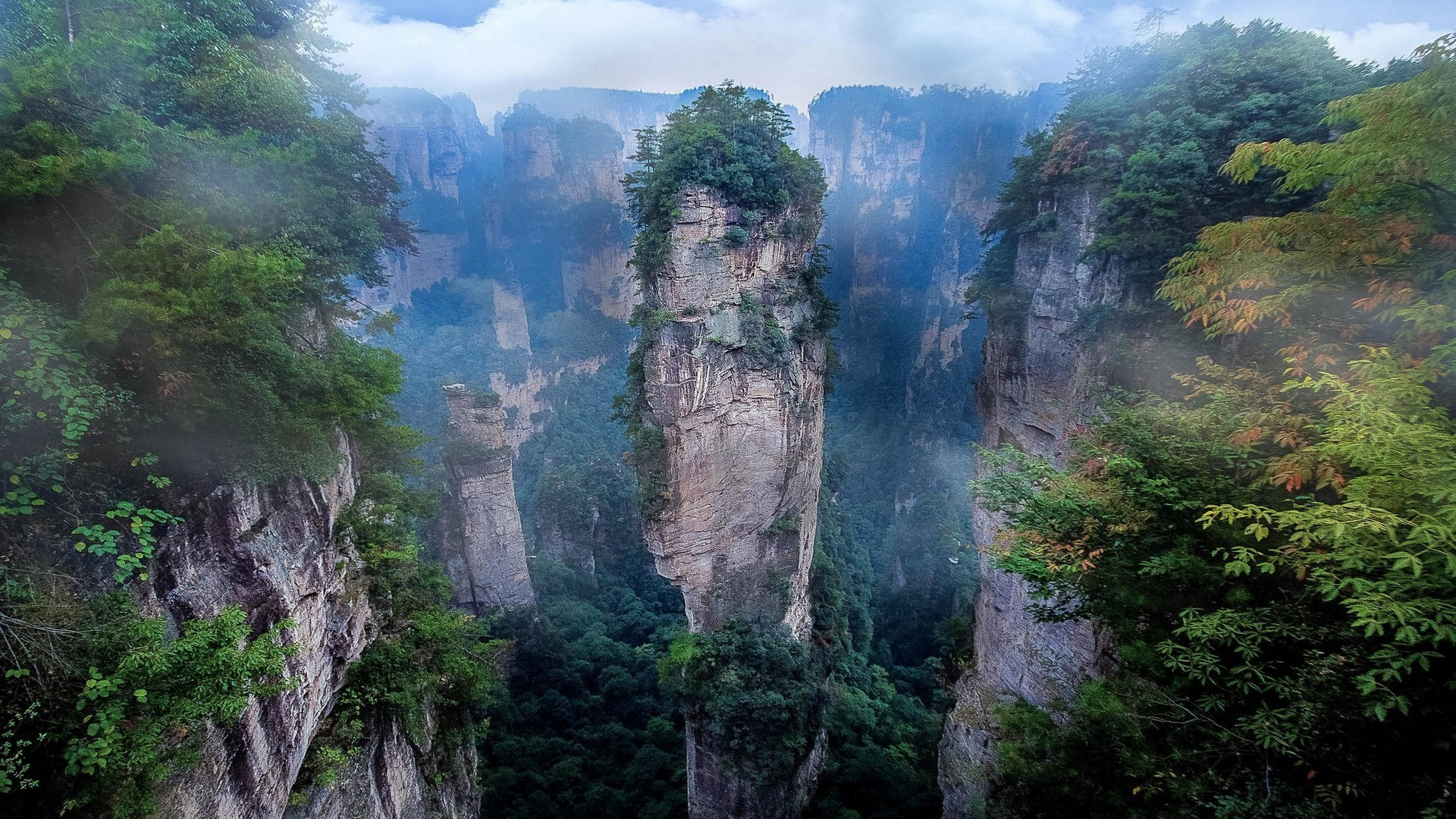 nature, Landscape, Mist, National Park, Mountain, Cliff, Avatar, Morning,  China Wallpapers HD / Desktop and Mobile Backgrounds