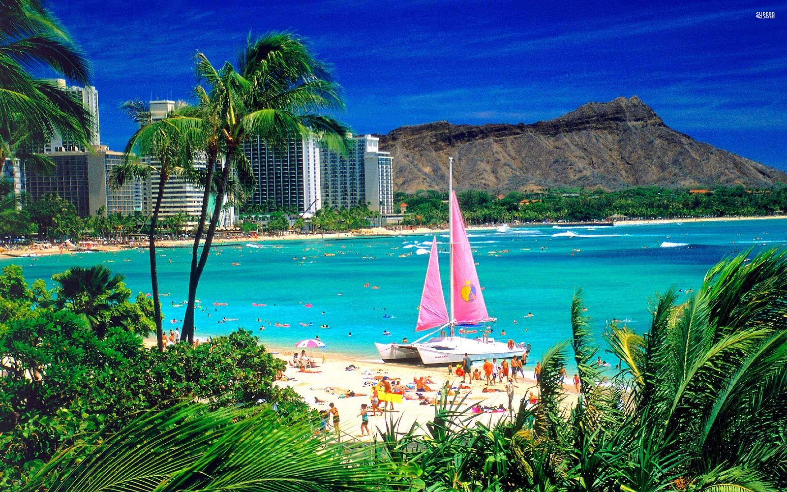 Wallpapers For > Hawaiian Beach Background