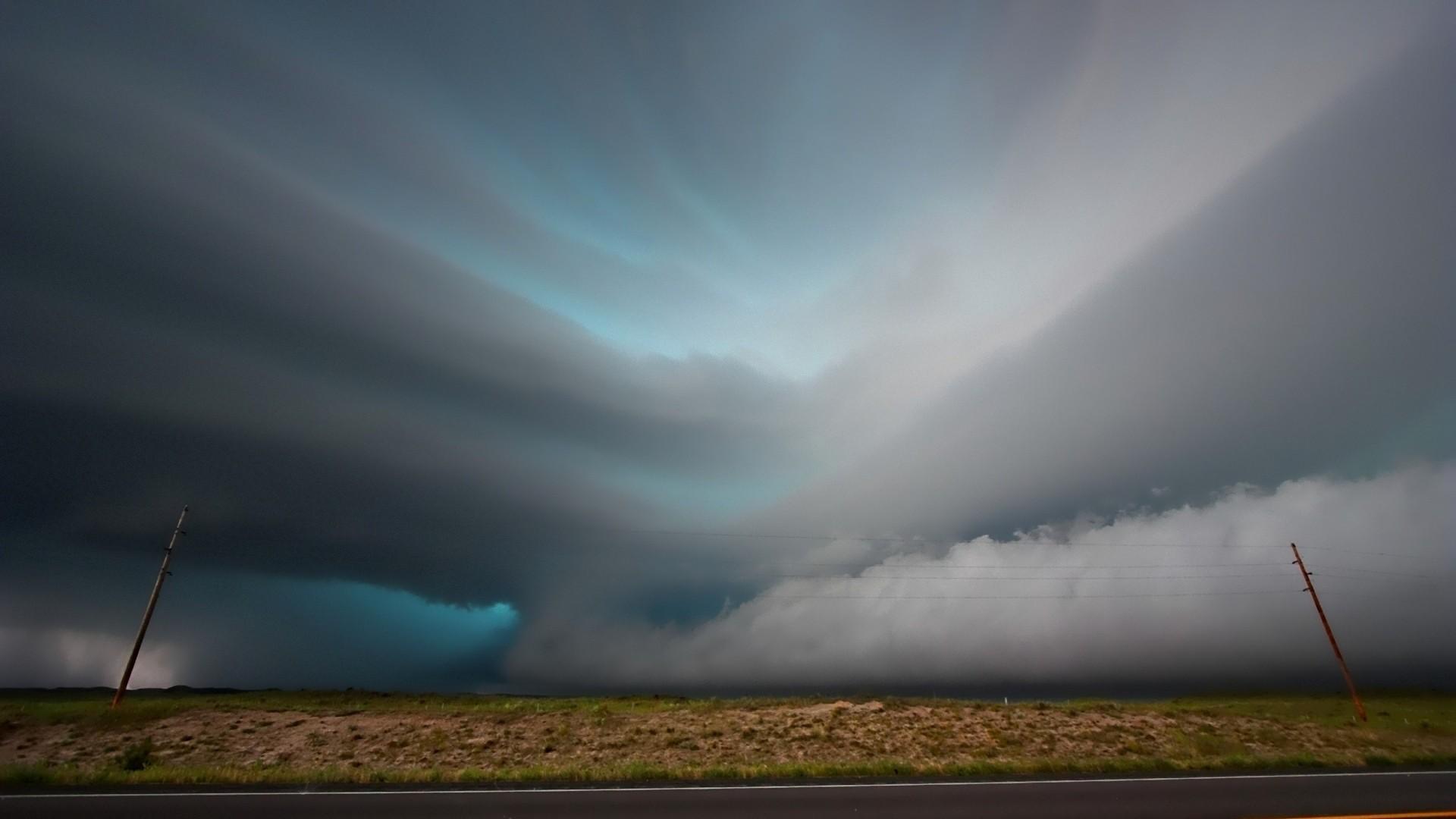 Preview wallpaper tornadoes, rain, storm, clouds, sky 1920×1080