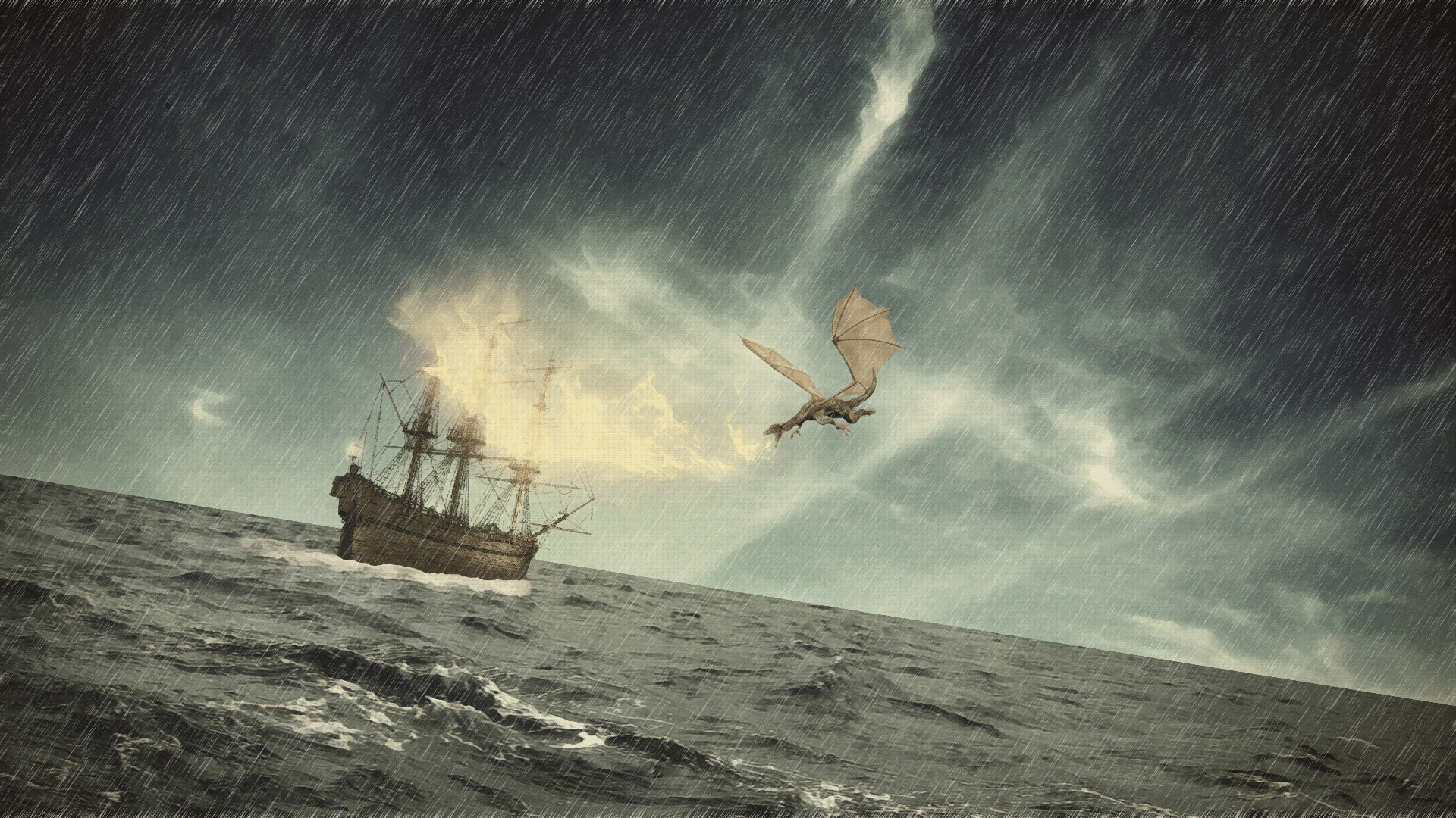 Rain Storm | Download wallpaper sea, waves, storm, rain free desktop  wallpaper in
