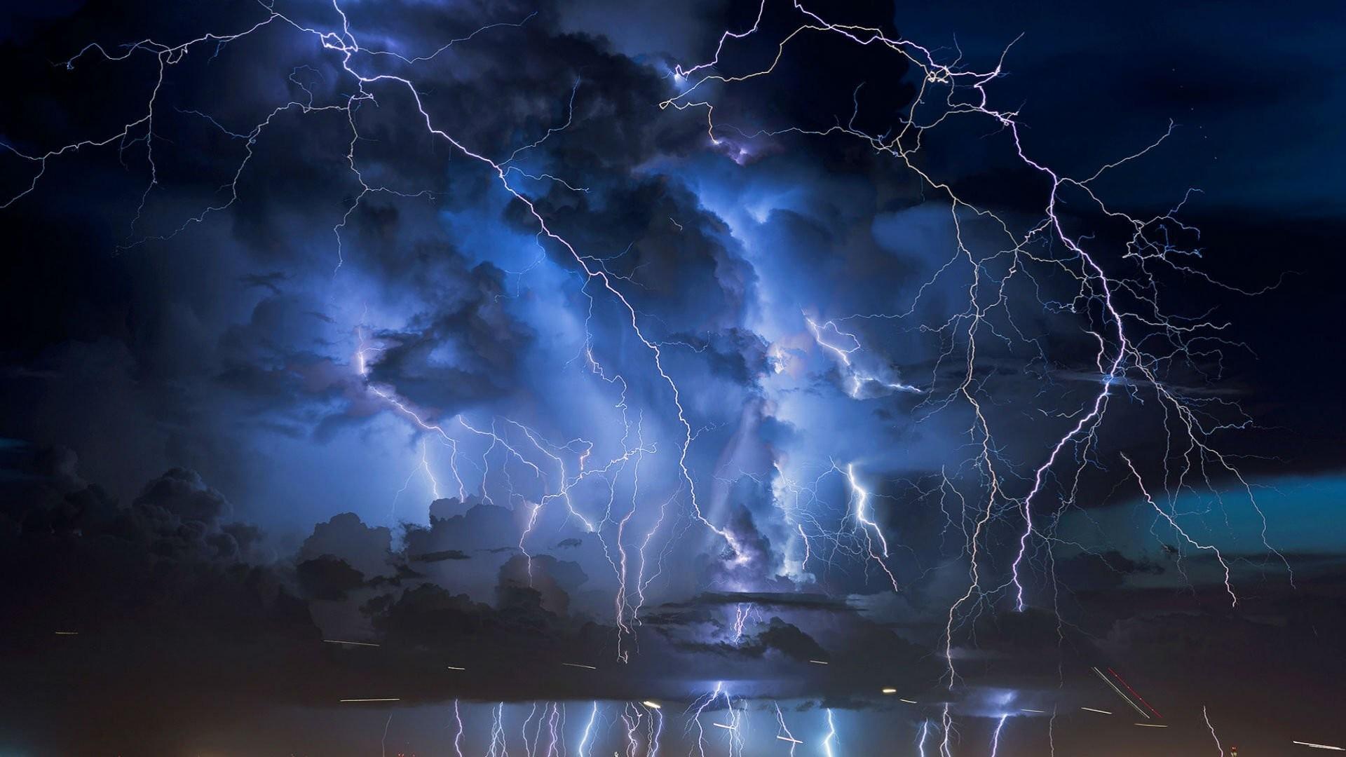 Cities Nature Sky Storm City Clouds Lightning Night Weather Landscape Rain  Best Desktop Wallpaper Hd