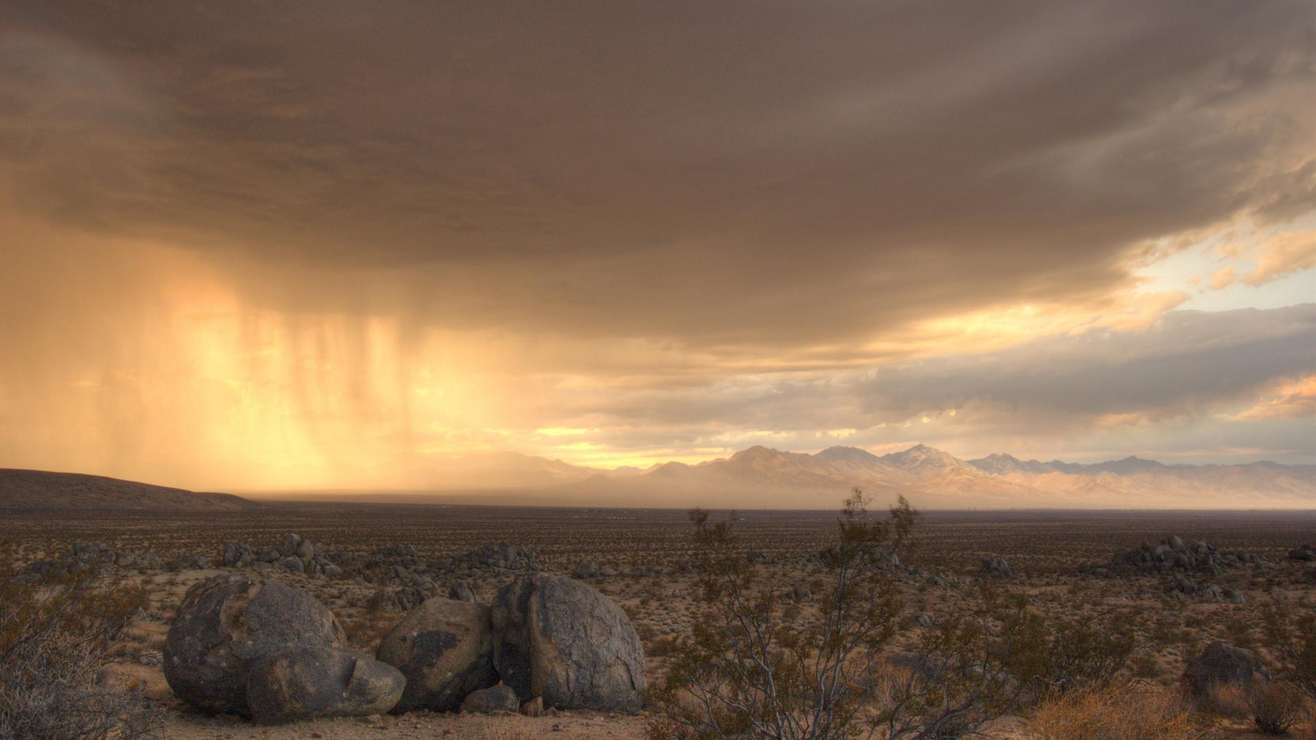 Desert wallpapers rainstorm