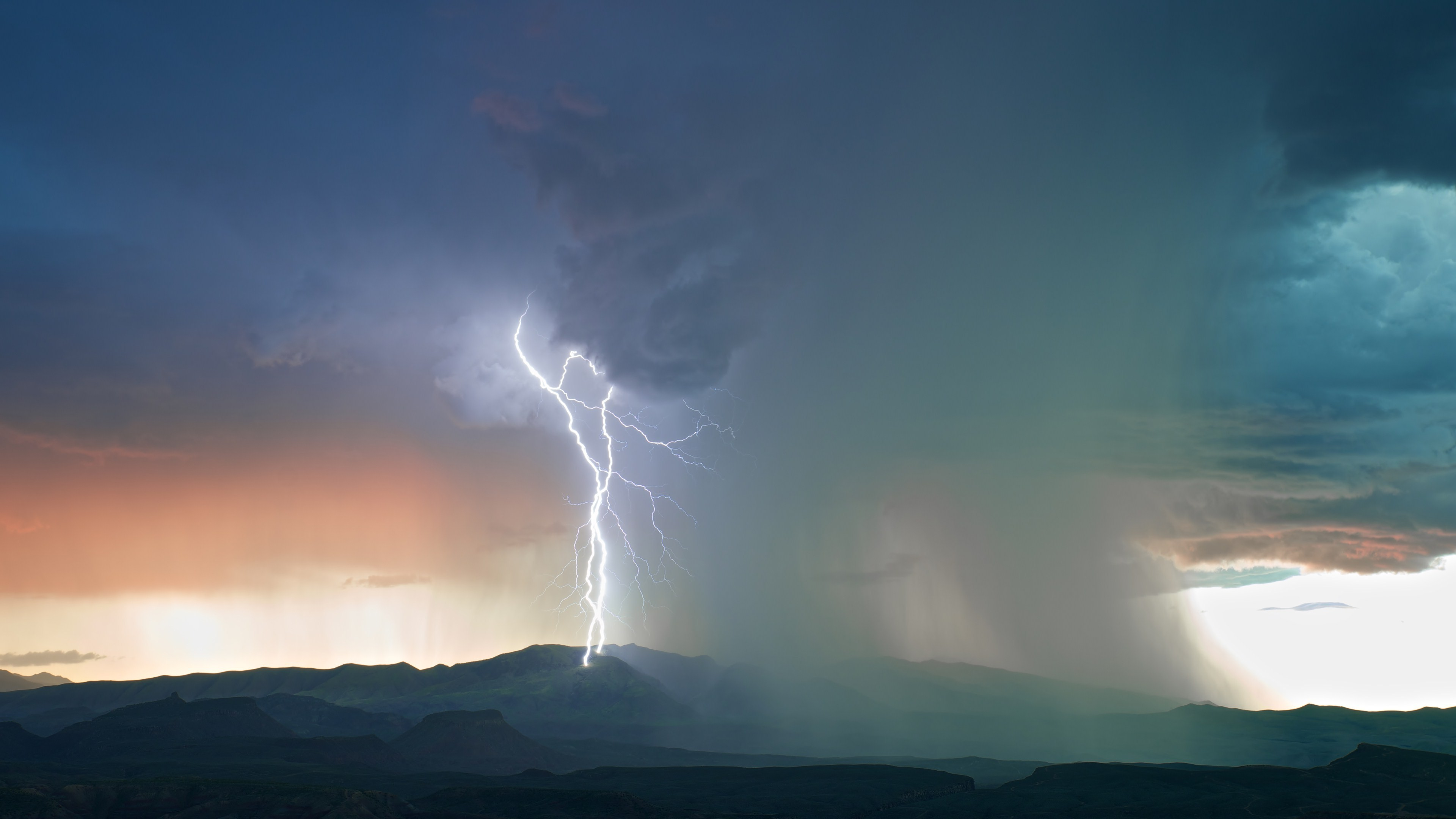nature, Landscape, Clouds, Sky, Lightning, Storm, Rain, Hill, Mountain  Wallpapers HD / Desktop and Mobile Backgrounds