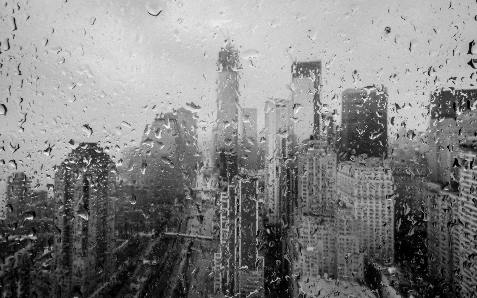 Huricane Sandy new york world architercture buildings skyscrapers rain storm  black white disaster weather drops water