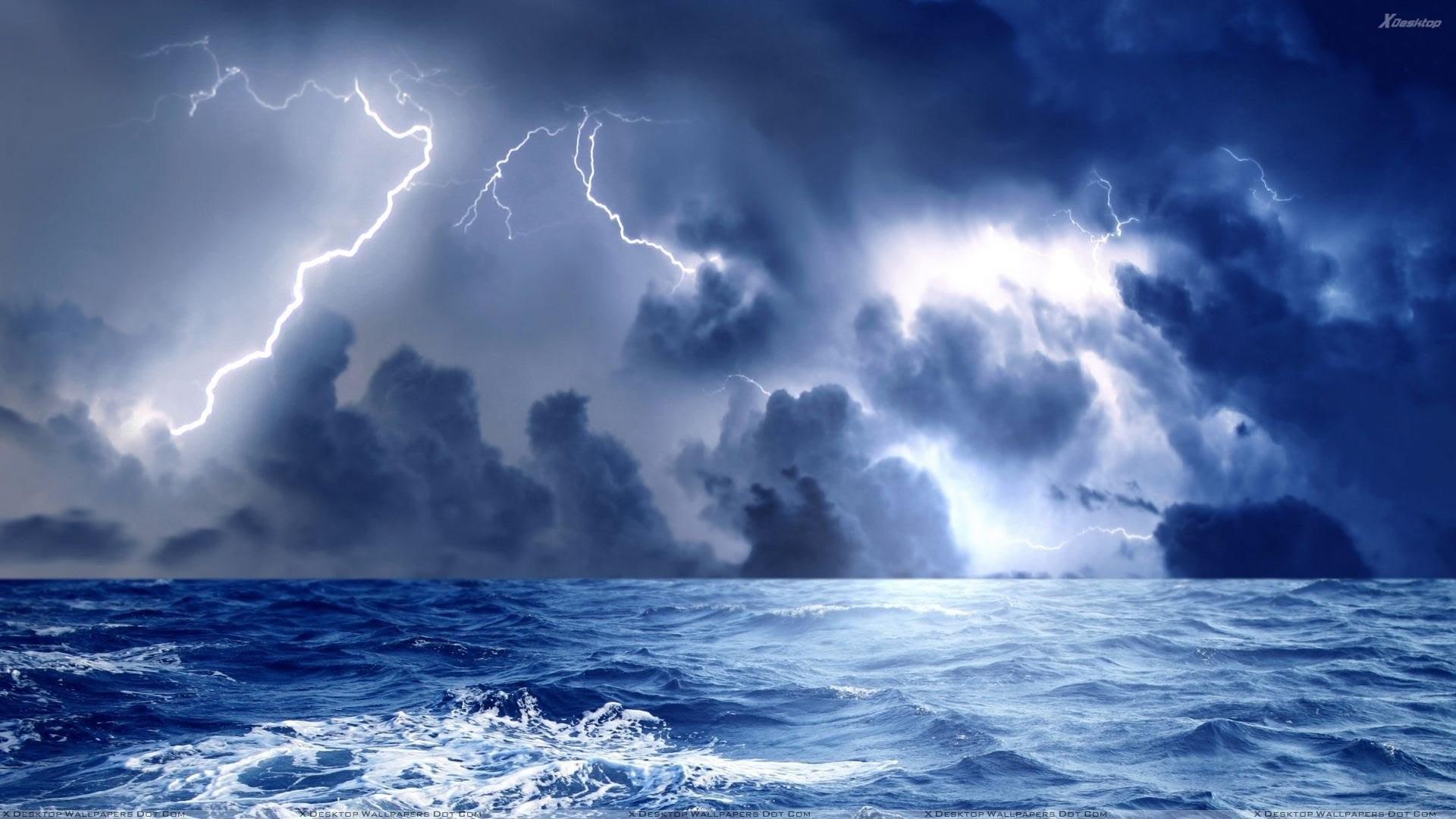STORM weather rain sky clouds nature ocean sea lightning wallpaper |  | 838280 | WallpaperUP