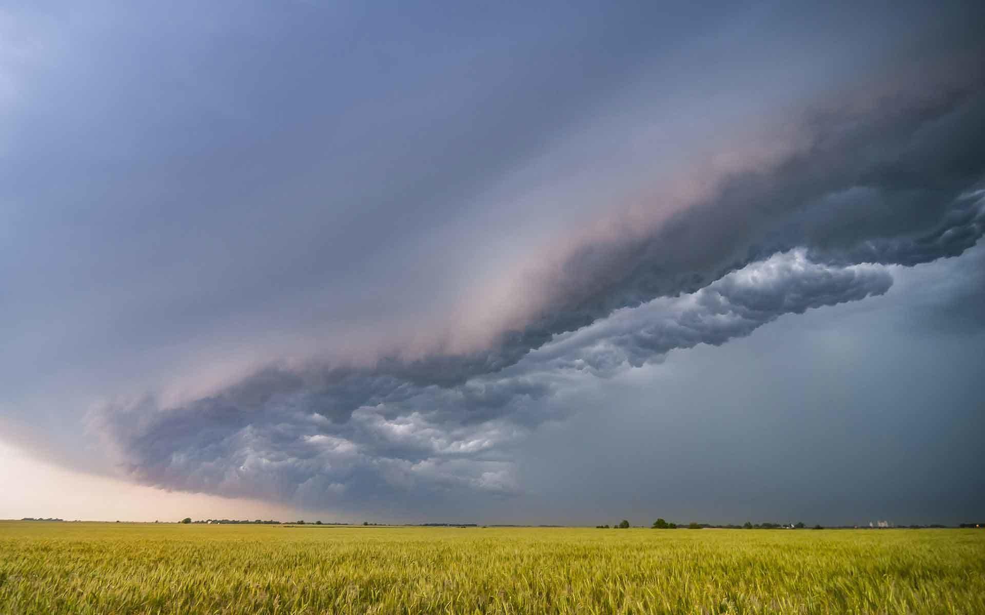 Sky Clouds Field Rain Storm Desktop Nature Wallpaper .