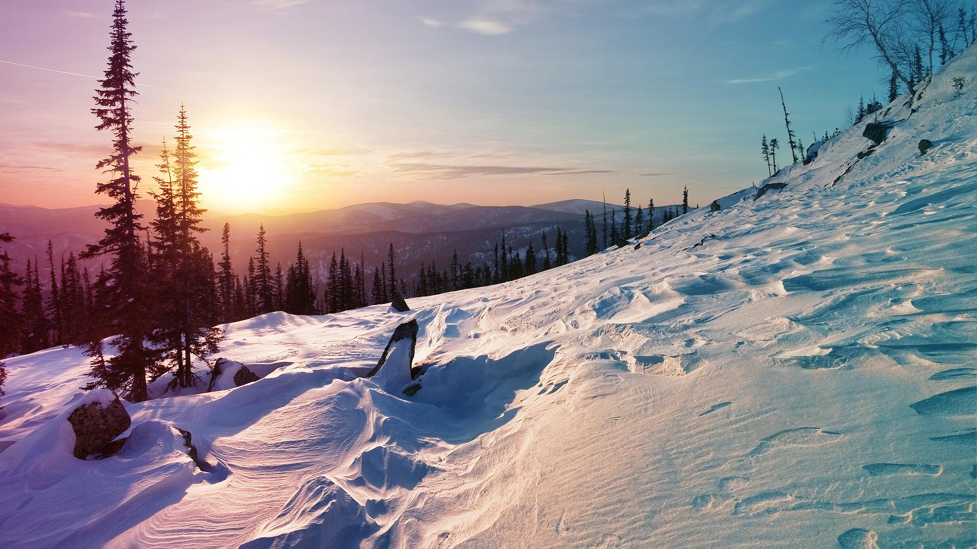 "winter-sunrise-mountain-hd-wallpaper003. """