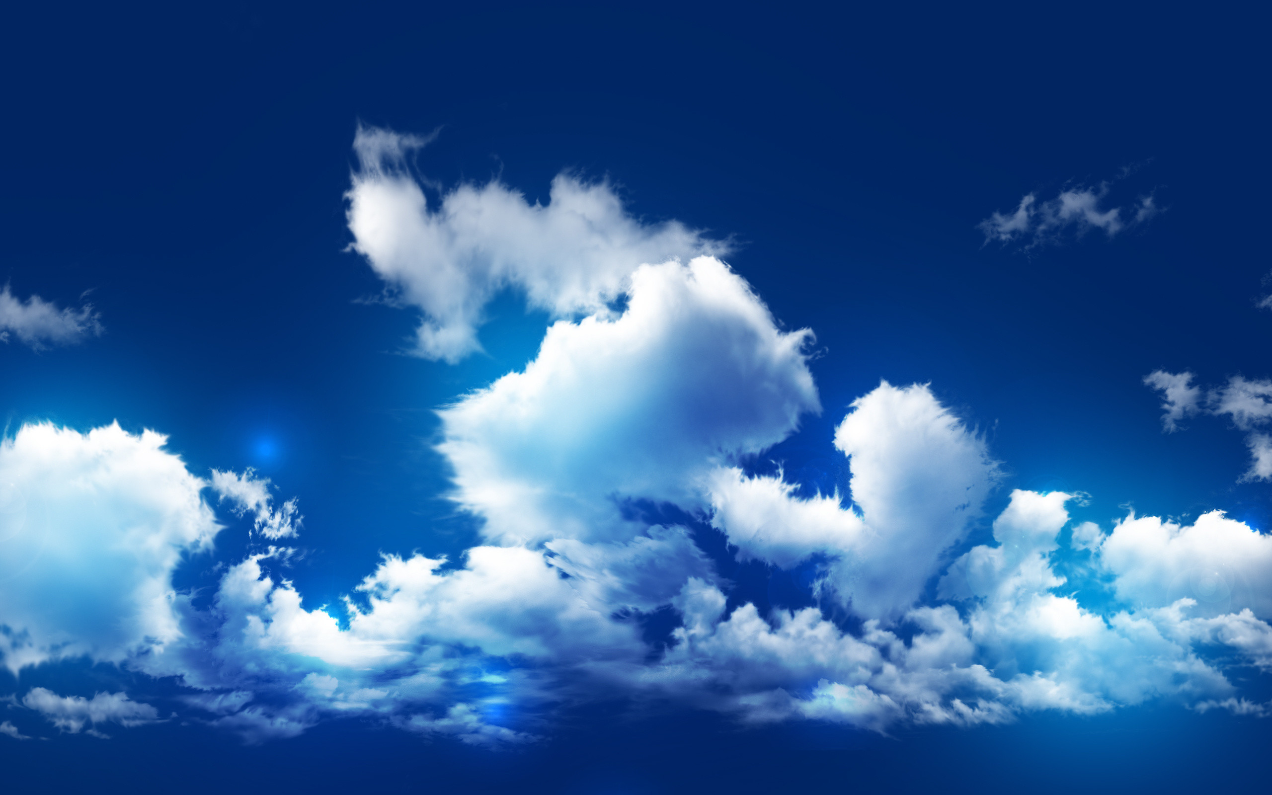 nice Blue Cloudy Sky In High Resolution