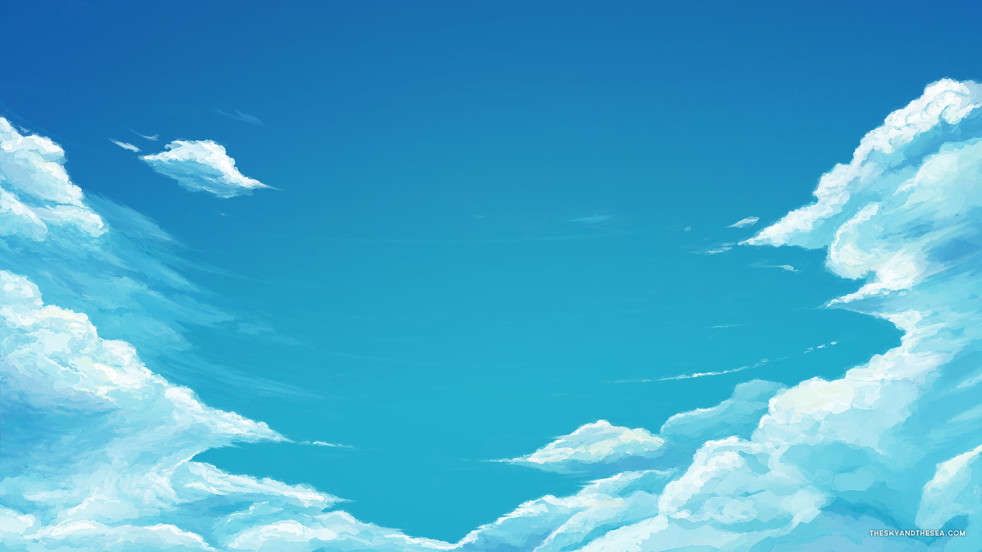 Free Wallpapers – Blue sky and clouds wallpaper