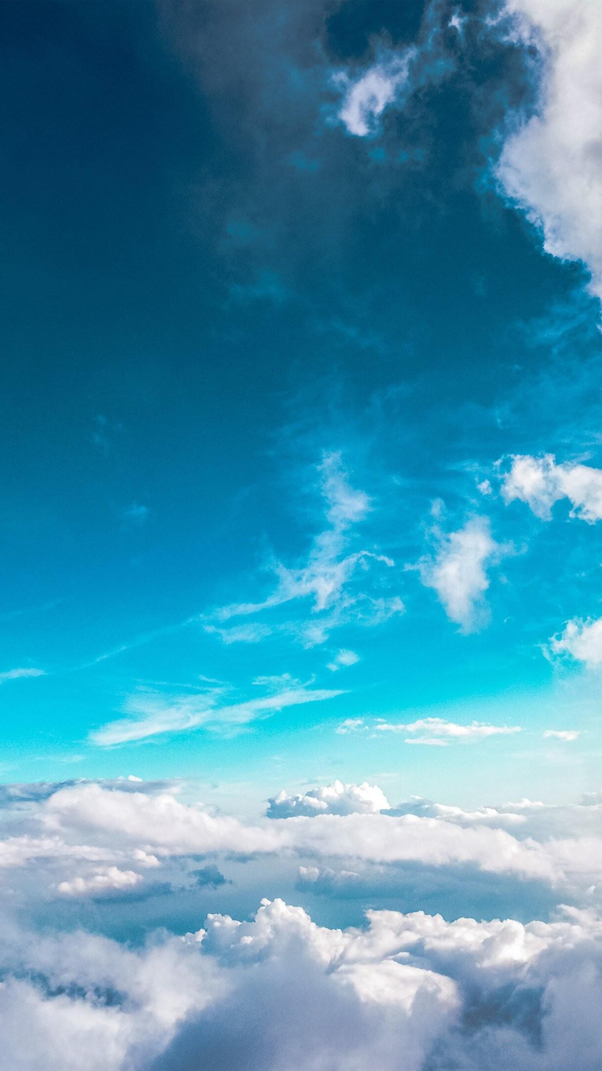Sky Cloud Fly Blue Summer Sunny iPhone 8 wallpaper