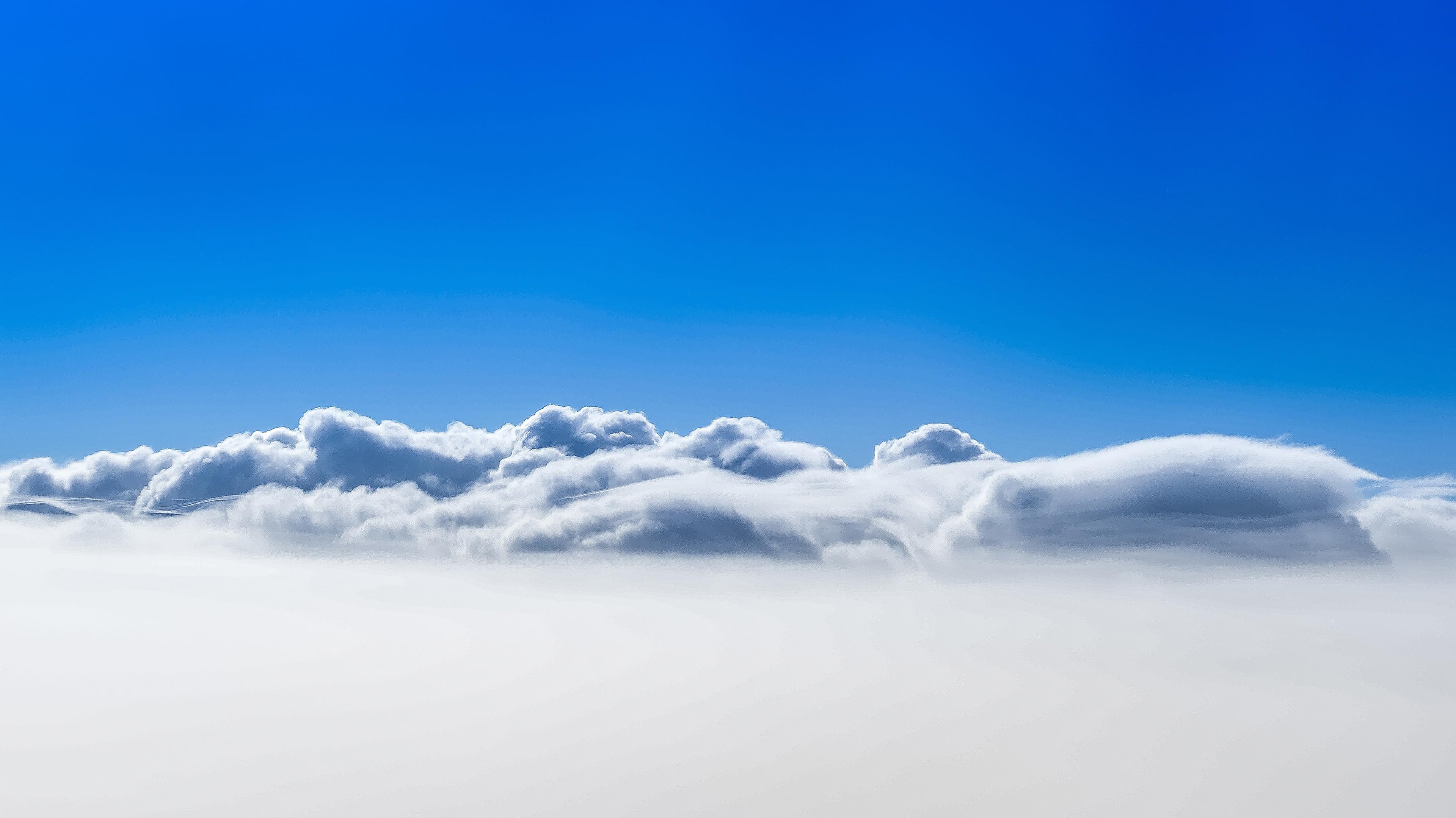 Clouds Blue Sky 4K