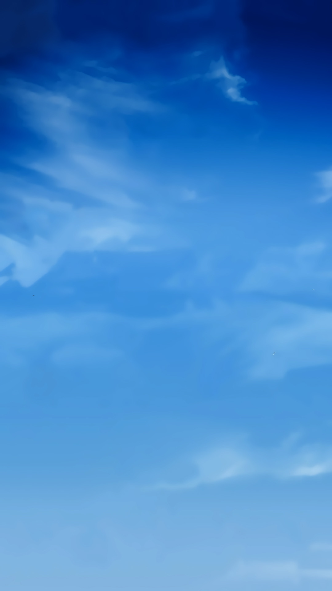 Blue Sky Smudge Clouds Android Wallpaper …