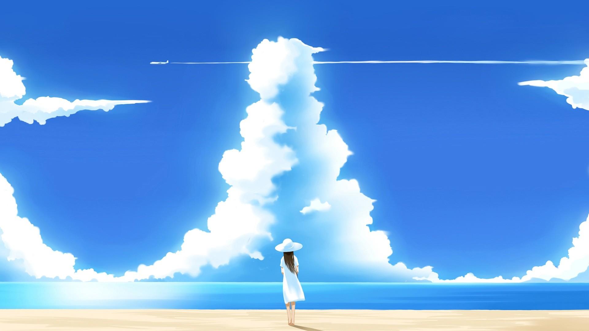 Blue Sky And Sea wallpaper