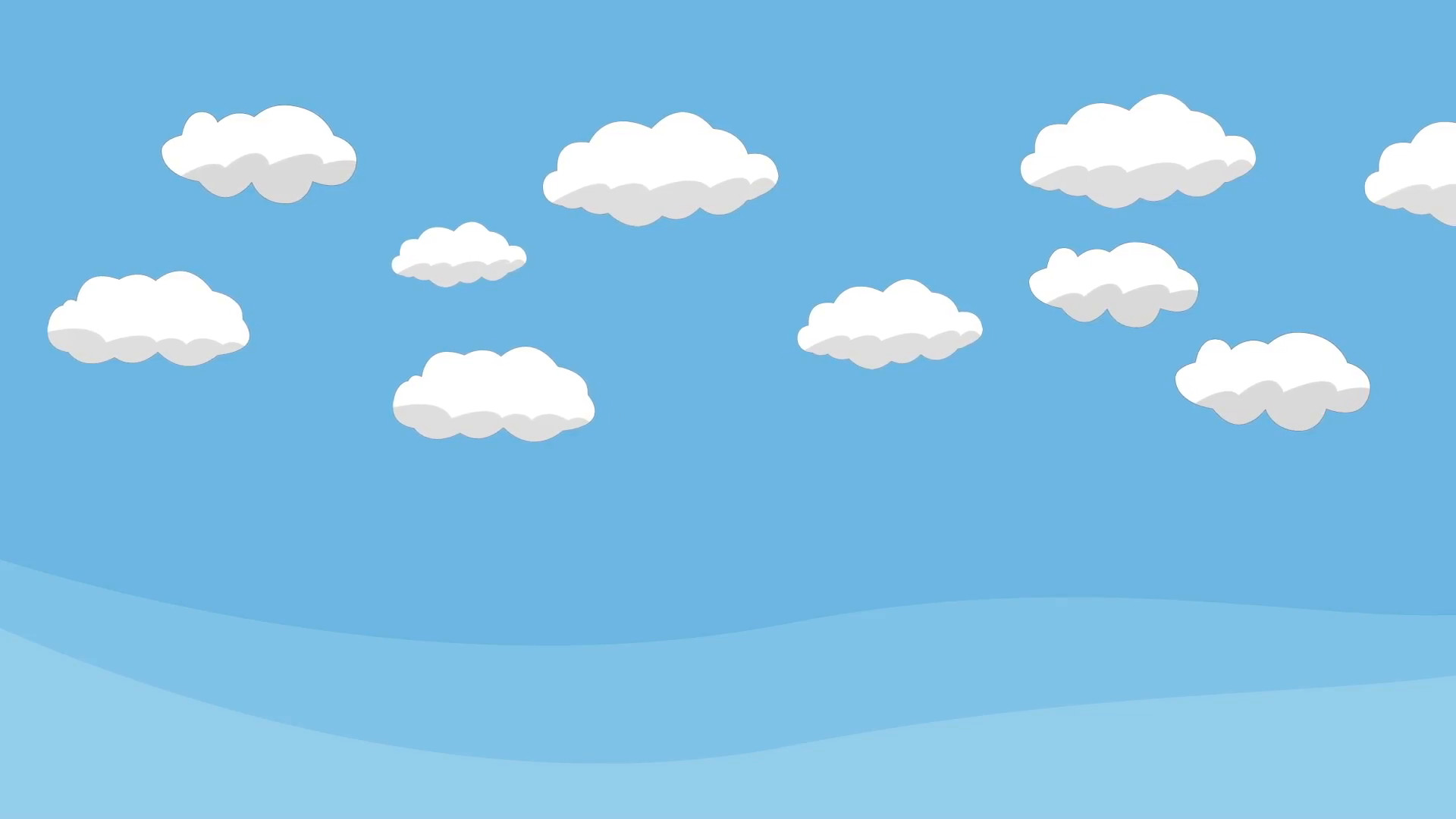Animated Cartoon Blue Sky with White Clouds Motion Background – VideoBlocks