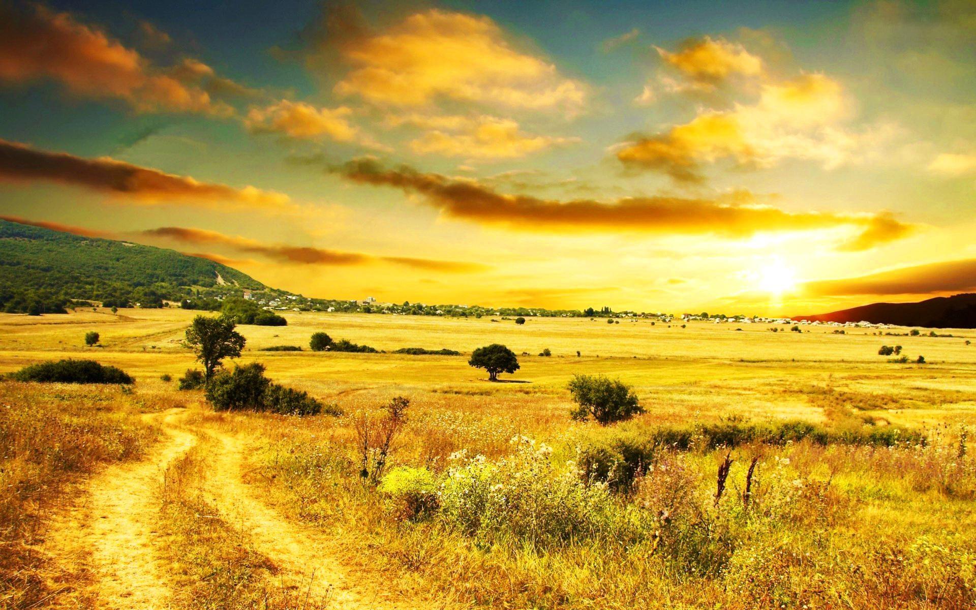 Sunrise, Country, Field, Wallpaper, Desktop Wallpapers, Cool, Landscape  Wallpaper,