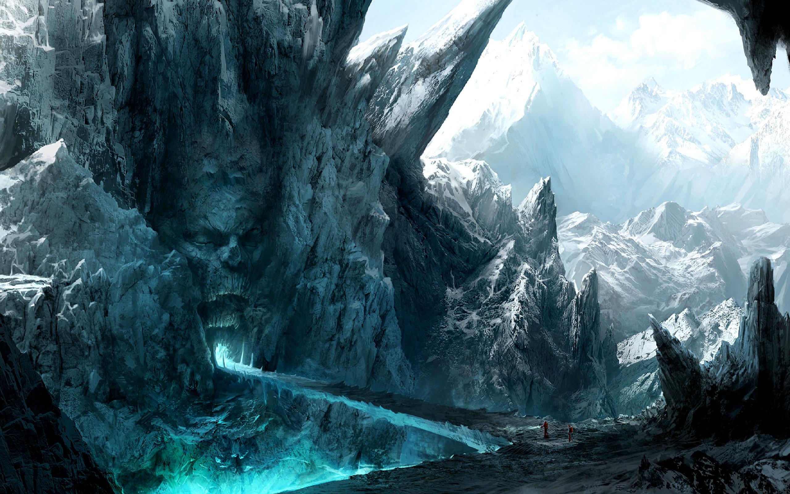 Fantasy Mountain Art Cool Wallpapers