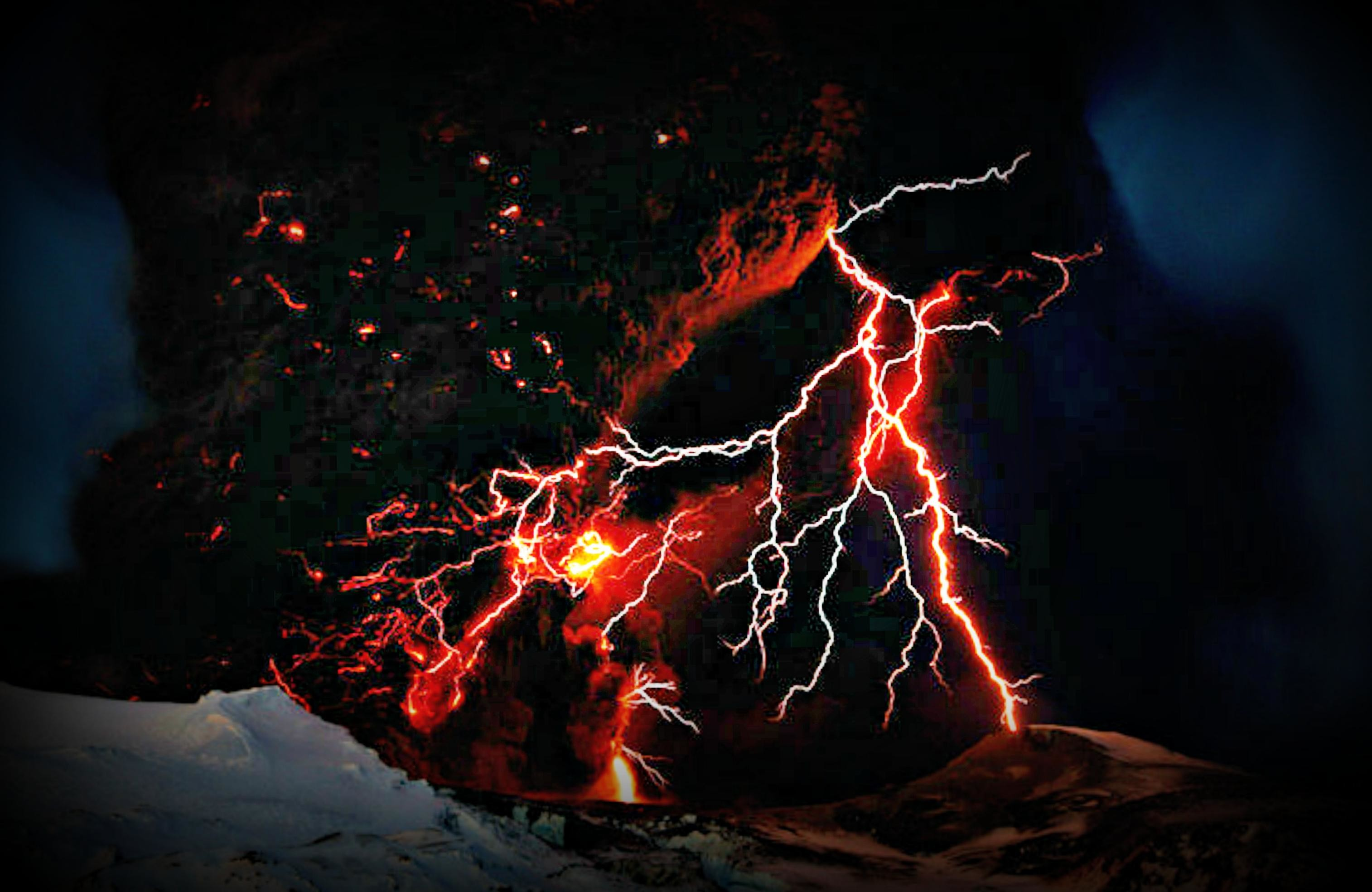 Volcano lightning – (#101403) – High Quality and Resolution Wallpapers .