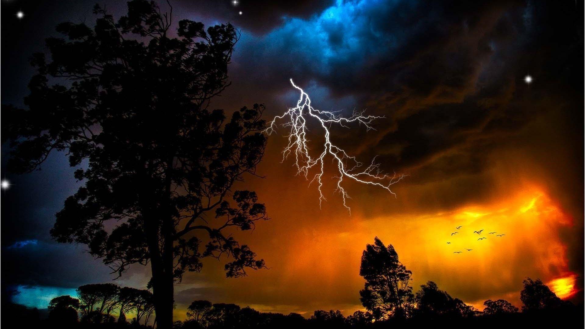 Volcano Lightning Wallpapers   WallPaper Glow