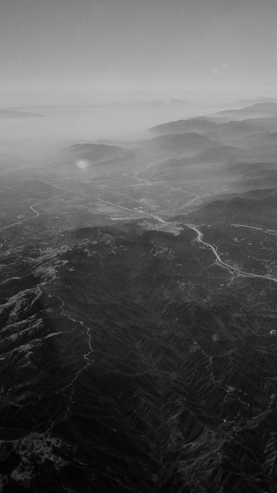 Nature Sky Mountain View Night Flight #iPhone #6 #plus #wallpaper