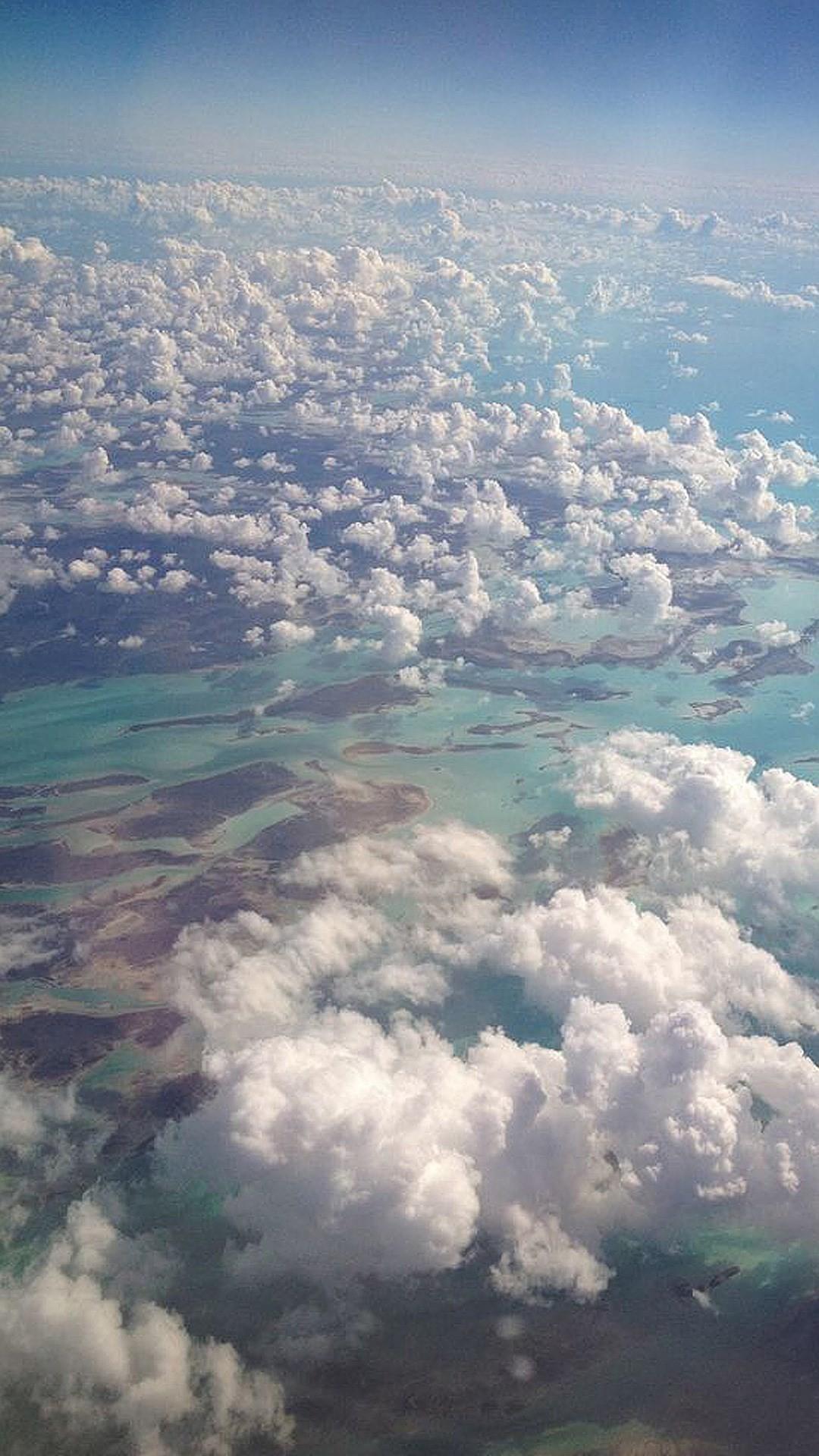Nature High Cloudy Sky Landscape iPhone 8 wallpaper