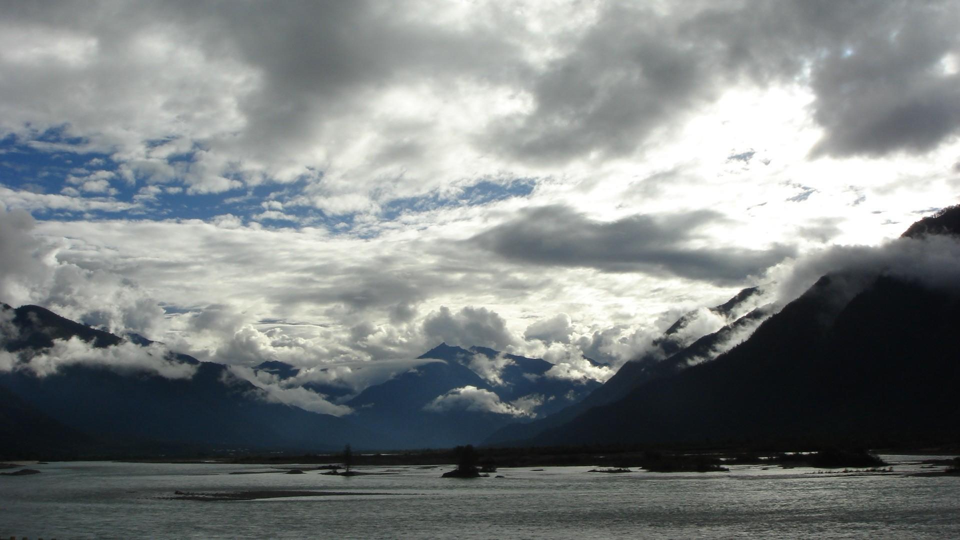 Cloudy sky over the mountain ridge Wallpaper   Original HD Wallpapers