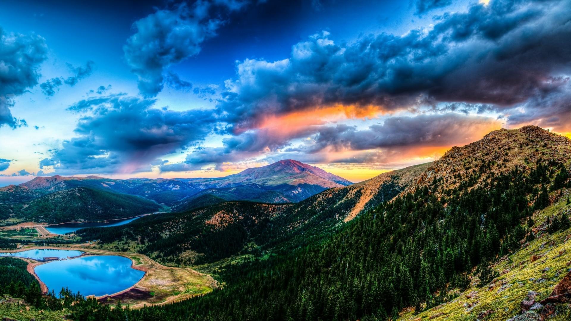 … Background Full HD 1080p. Wallpaper sunset, mountain, lake,  landscape